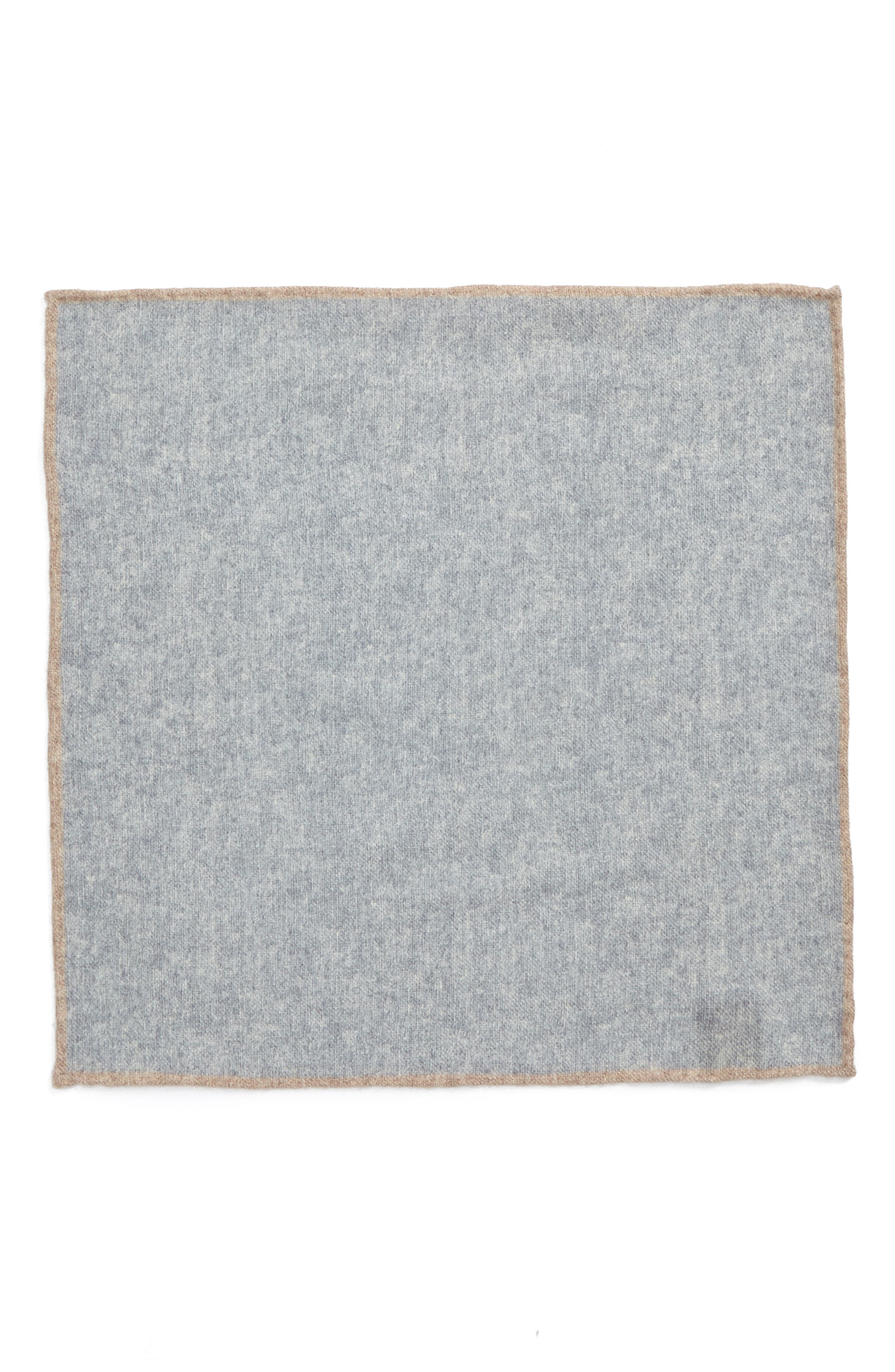 Flannel Wool Pocket Square,                             Alternate thumbnail 4, color,