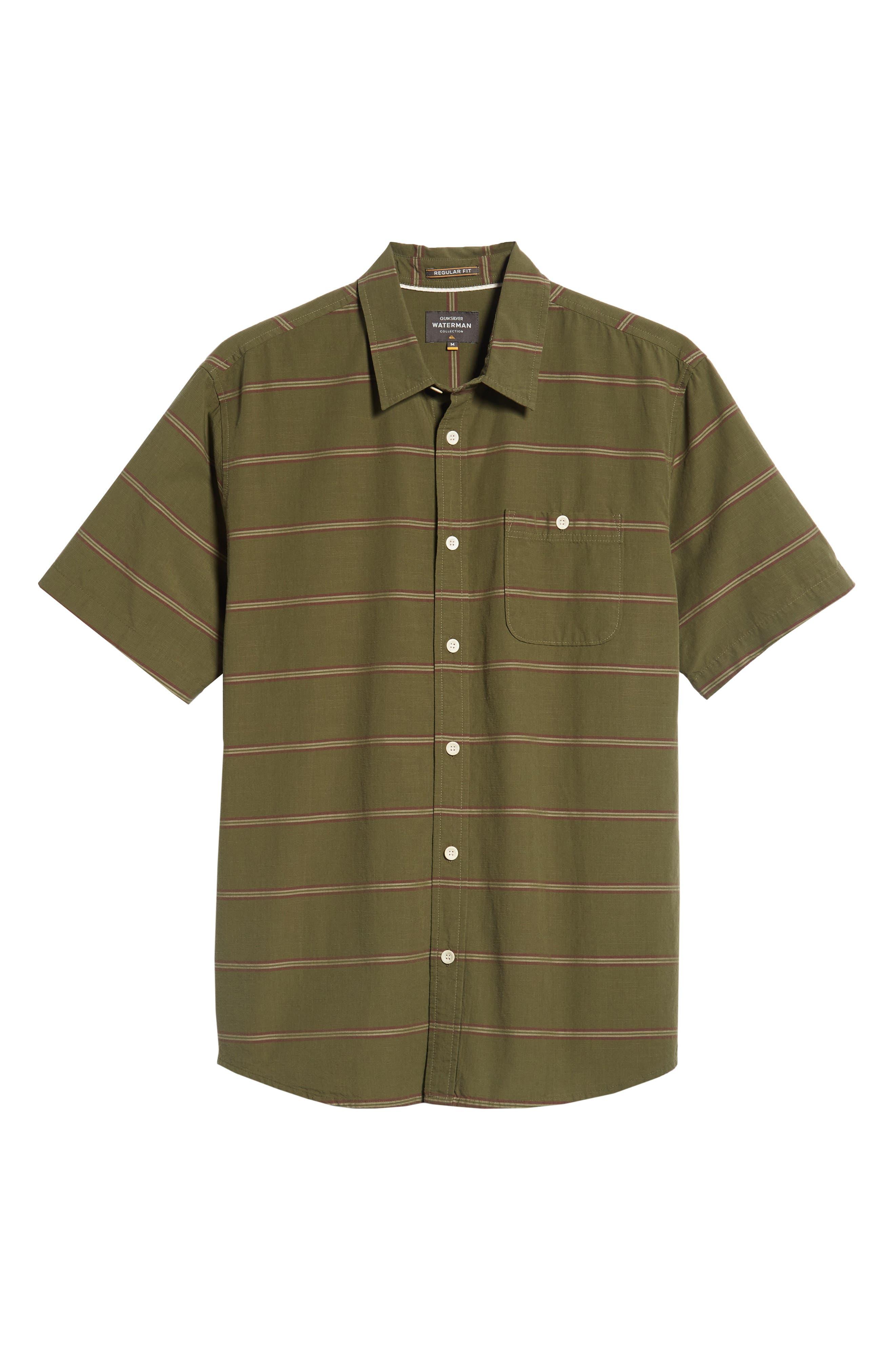 Last Dawn Regular Fit Stripe Sport Shirt,                             Alternate thumbnail 5, color,                             300