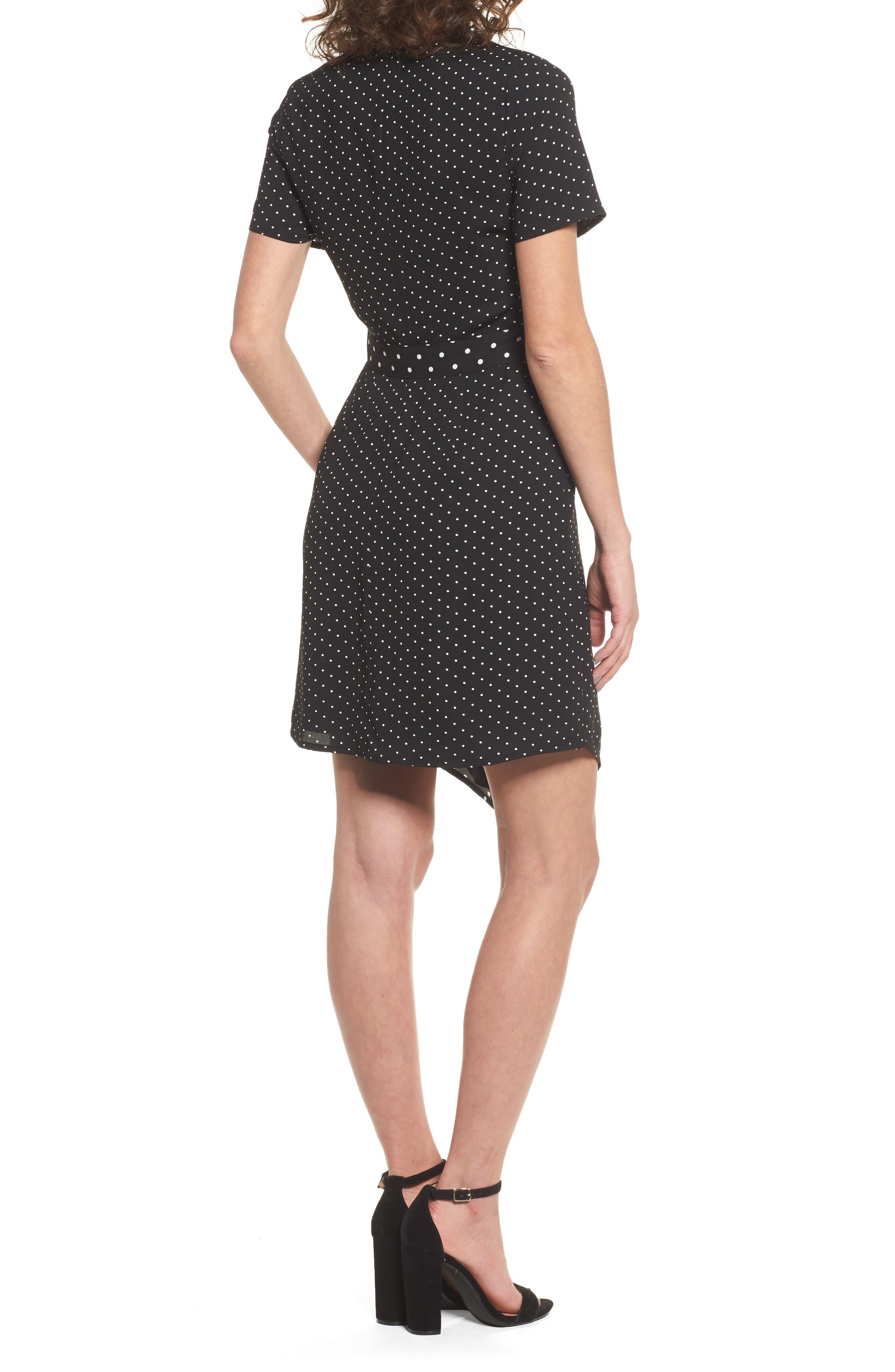Mix Print Wrap Dress,                             Alternate thumbnail 2, color,