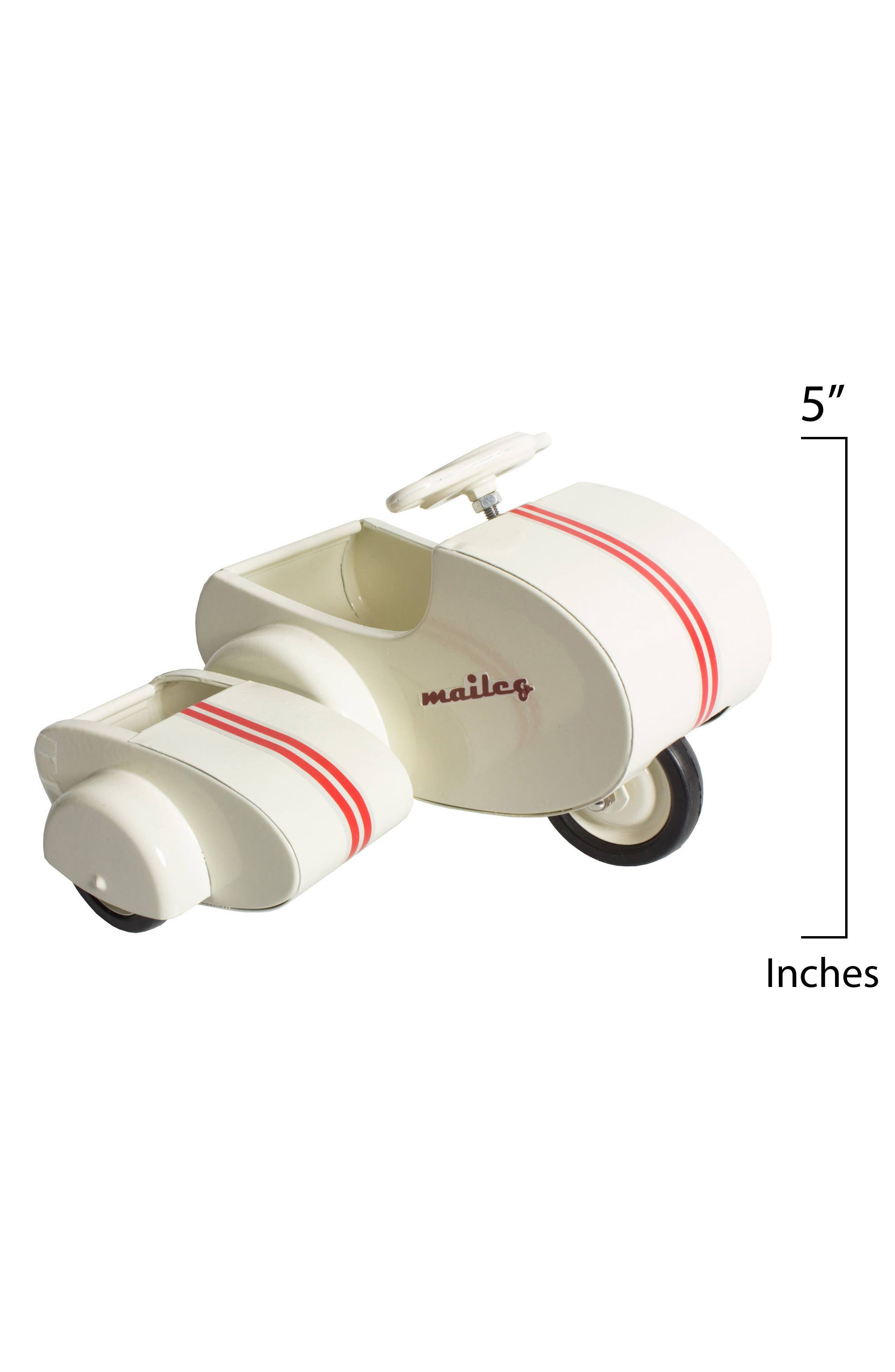 Mini Mouse Scooter Toy with Side Car,                             Alternate thumbnail 2, color,                             WHITE
