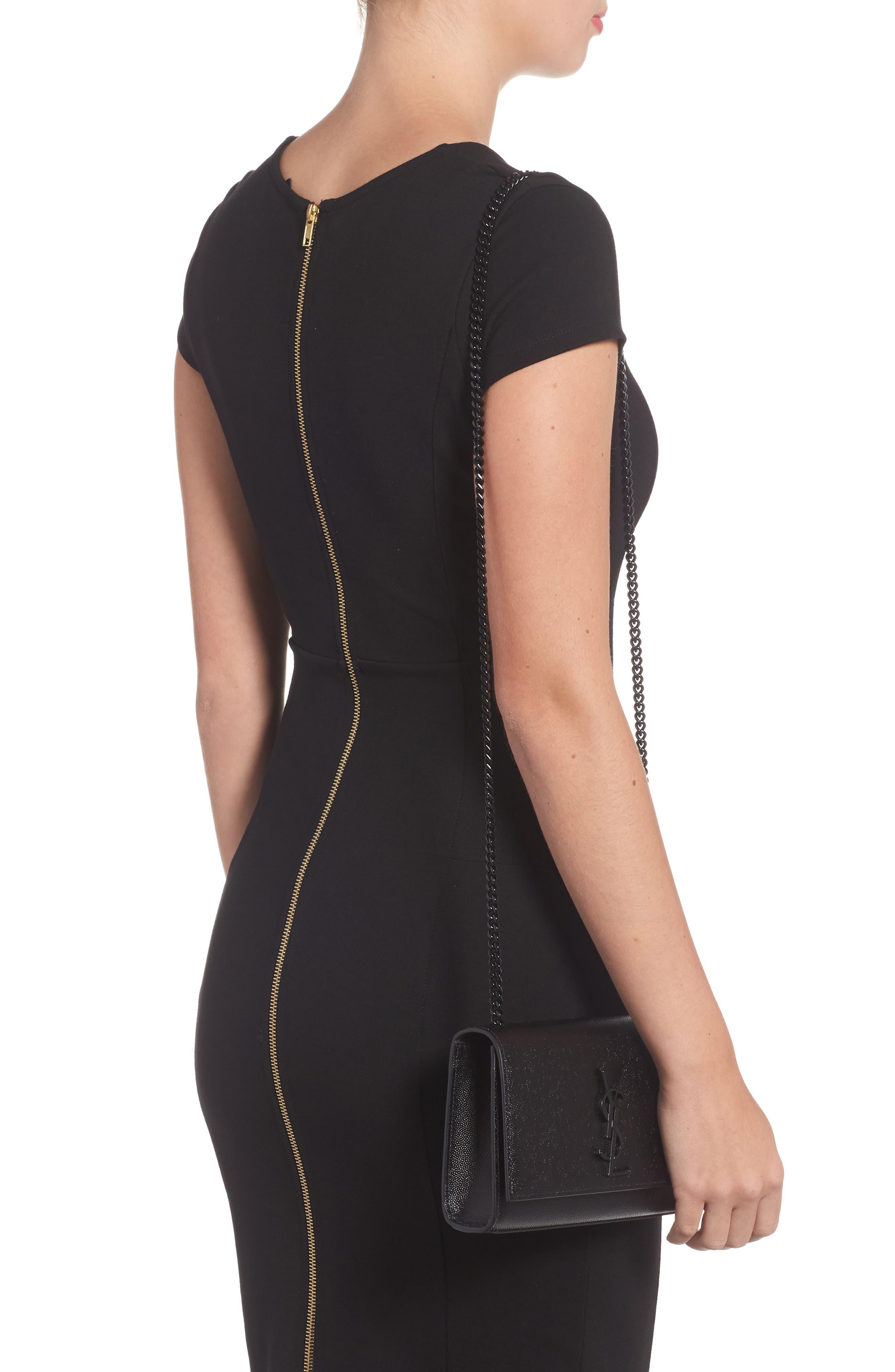 Small Kate Leather Shoulder Bag,                             Alternate thumbnail 2, color,                             BLACK