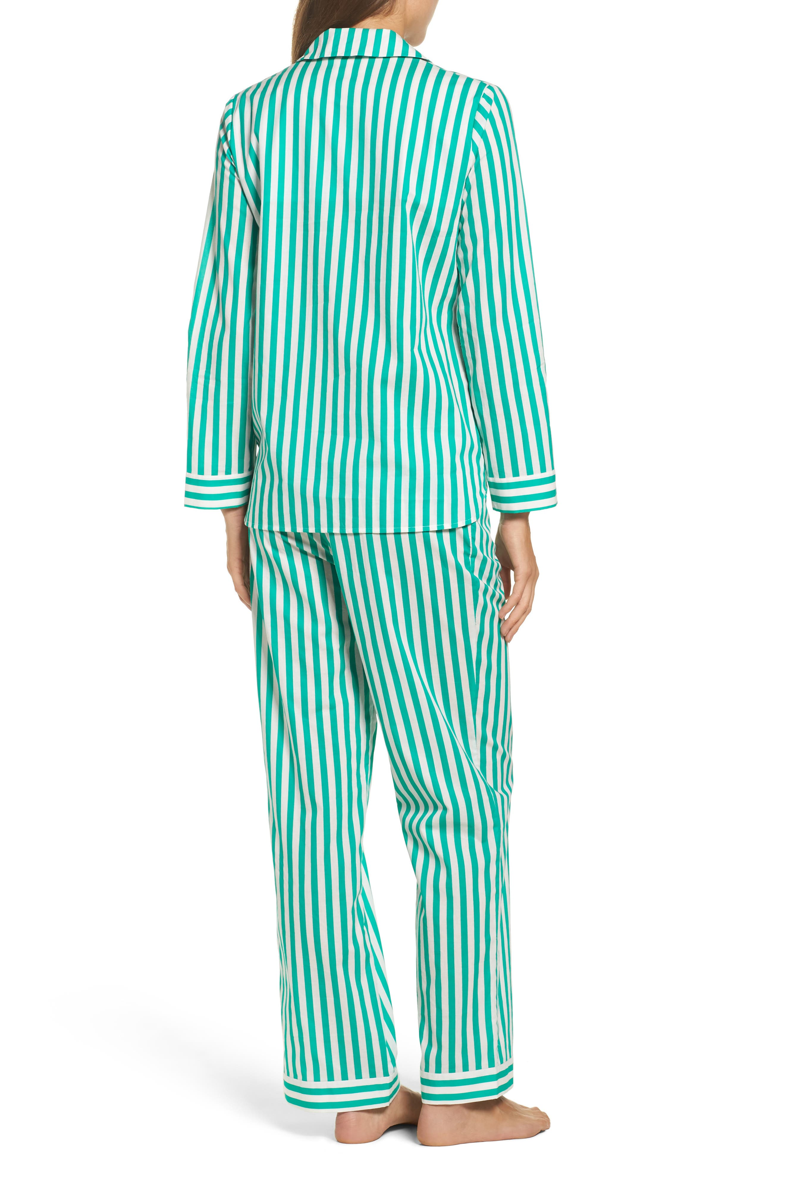Classic Stripe Cotton Pajamas,                             Alternate thumbnail 2, color,                             300