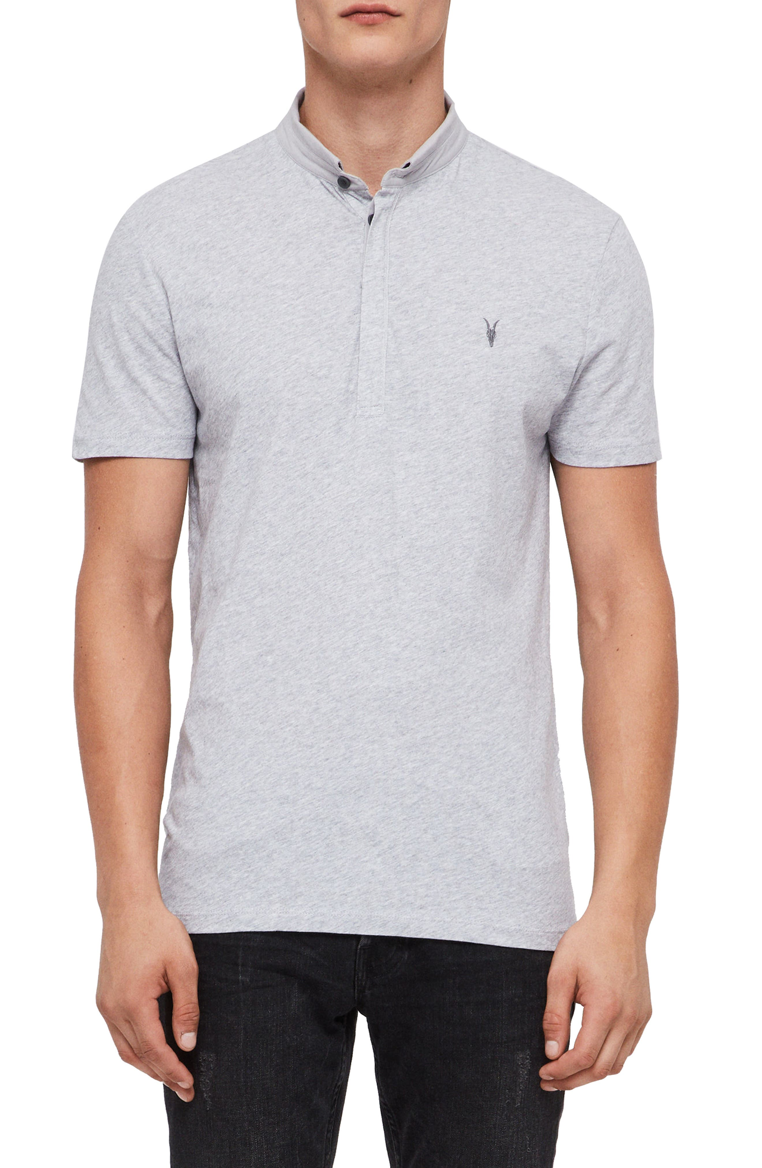 Grail Slim Fit Polo, Main, color, GREY MARL