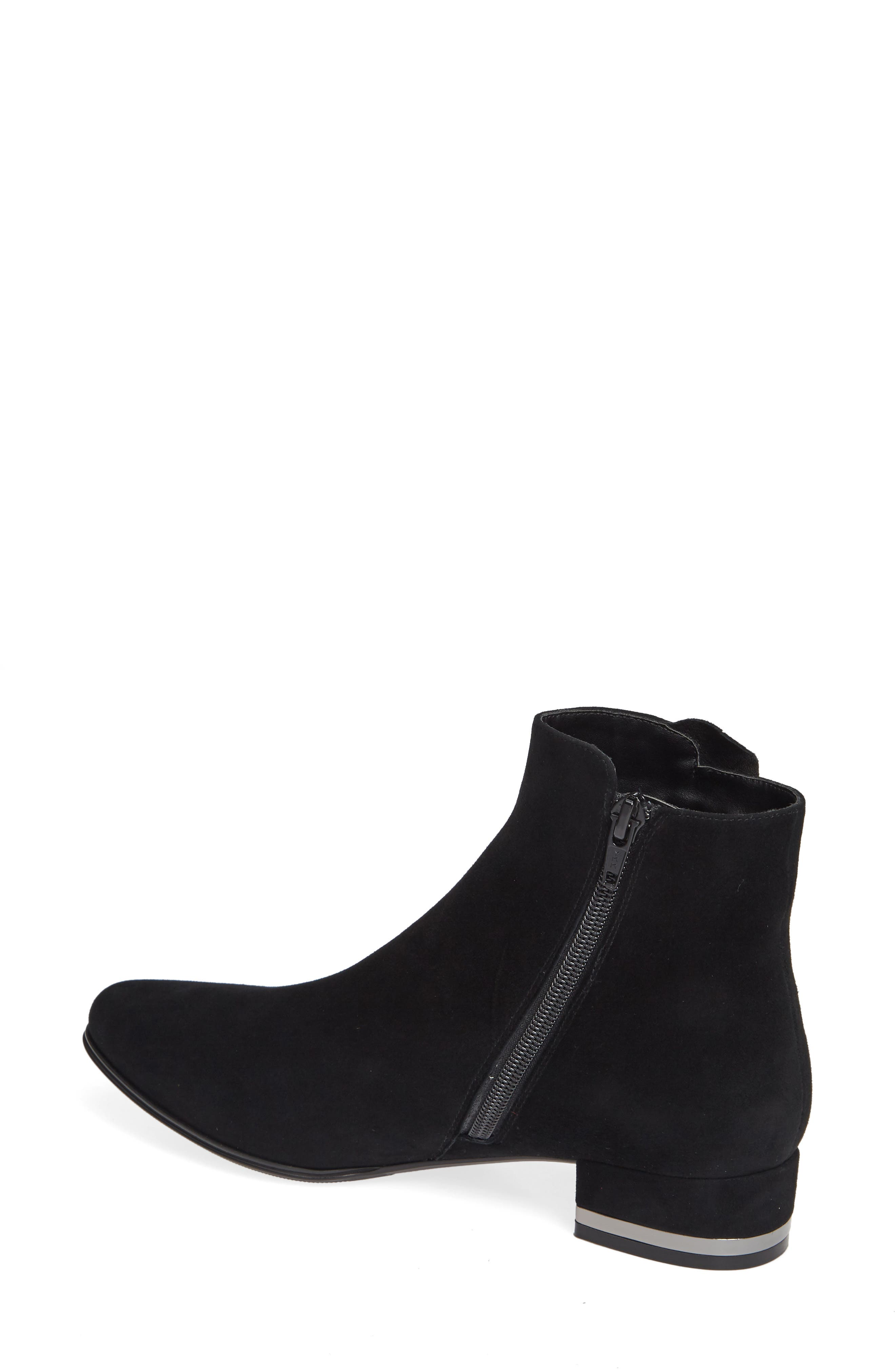 Amoke Bootie,                             Alternate thumbnail 2, color,                             BLACK SUEDE