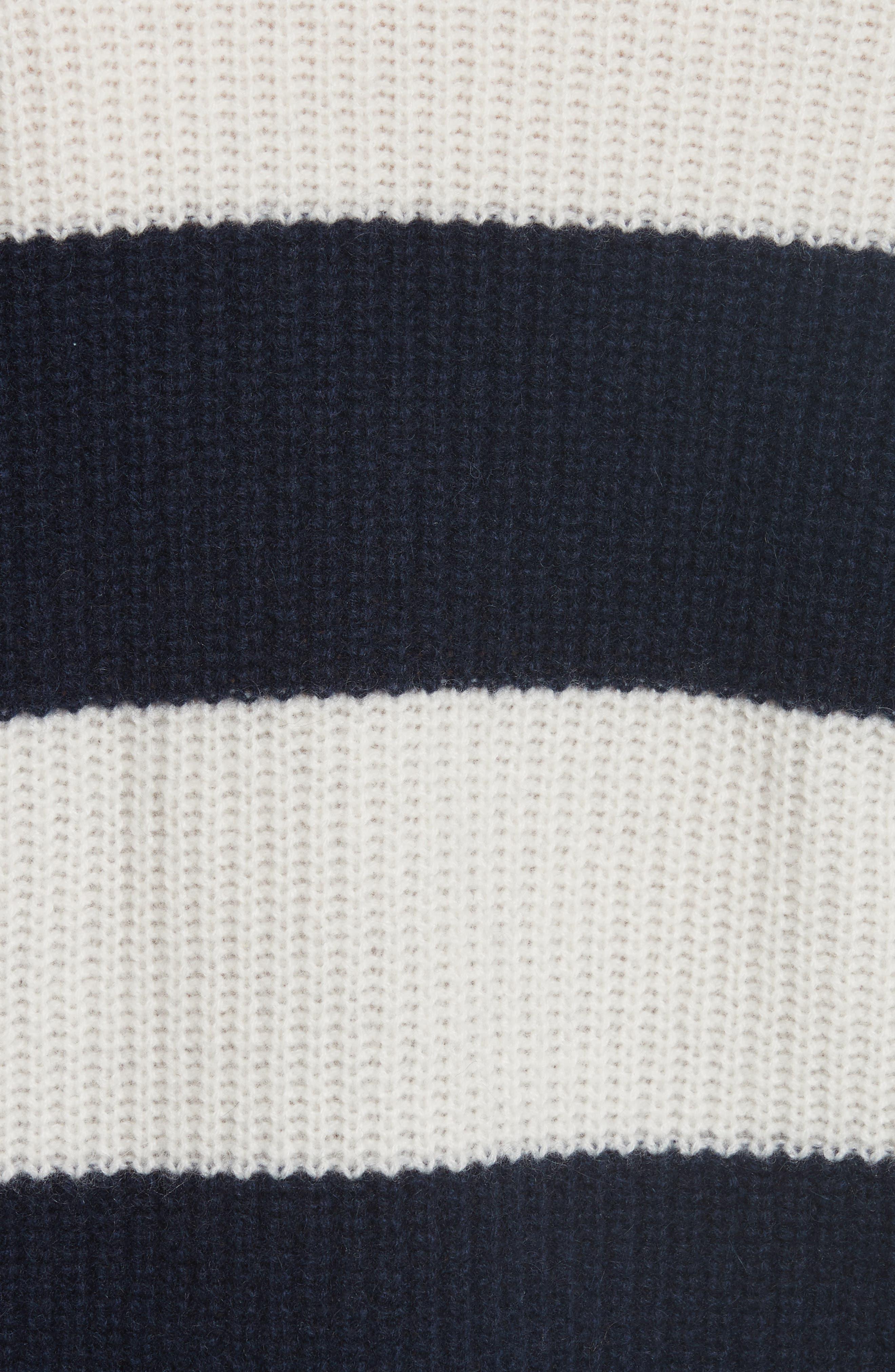 Cashmere Stripe Sweater,                             Alternate thumbnail 5, color,                             902