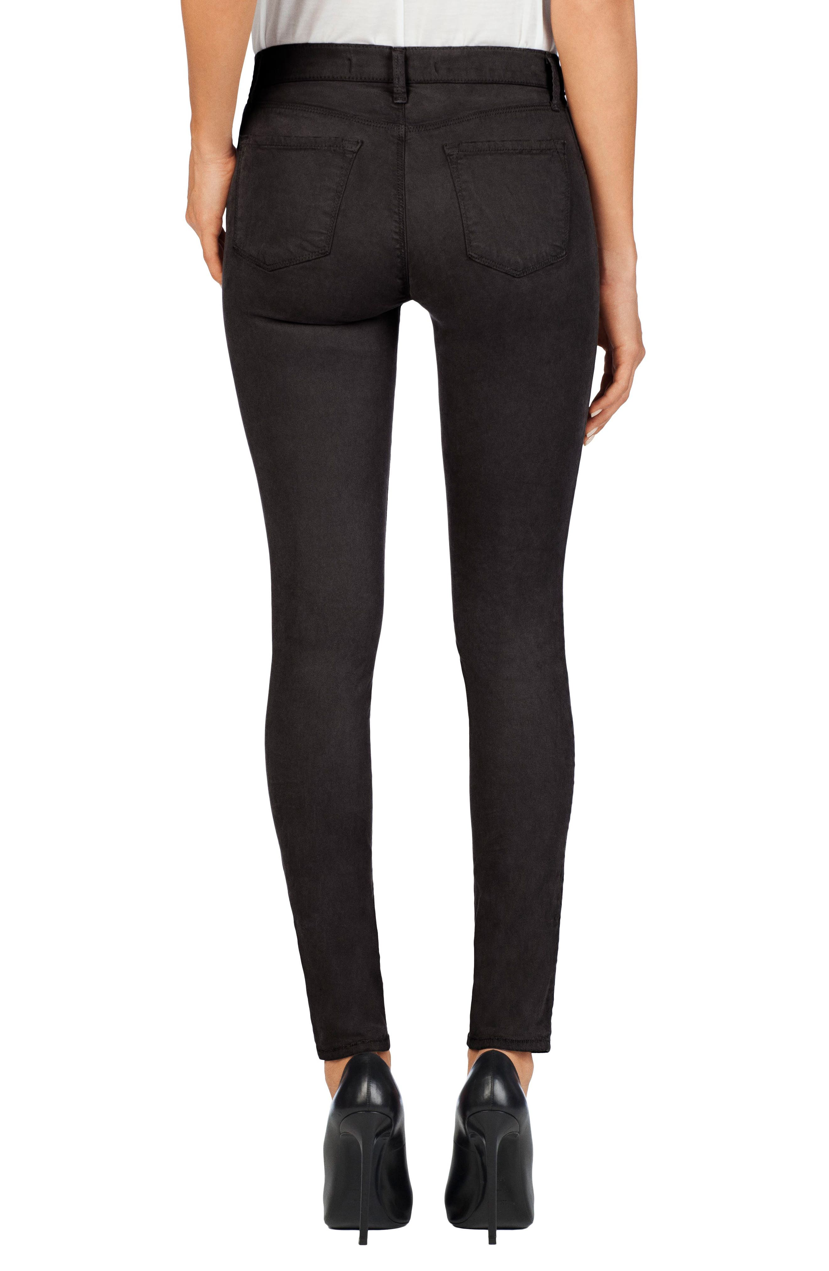 High Waist Ankle Super Skinny Jeans,                             Alternate thumbnail 21, color,