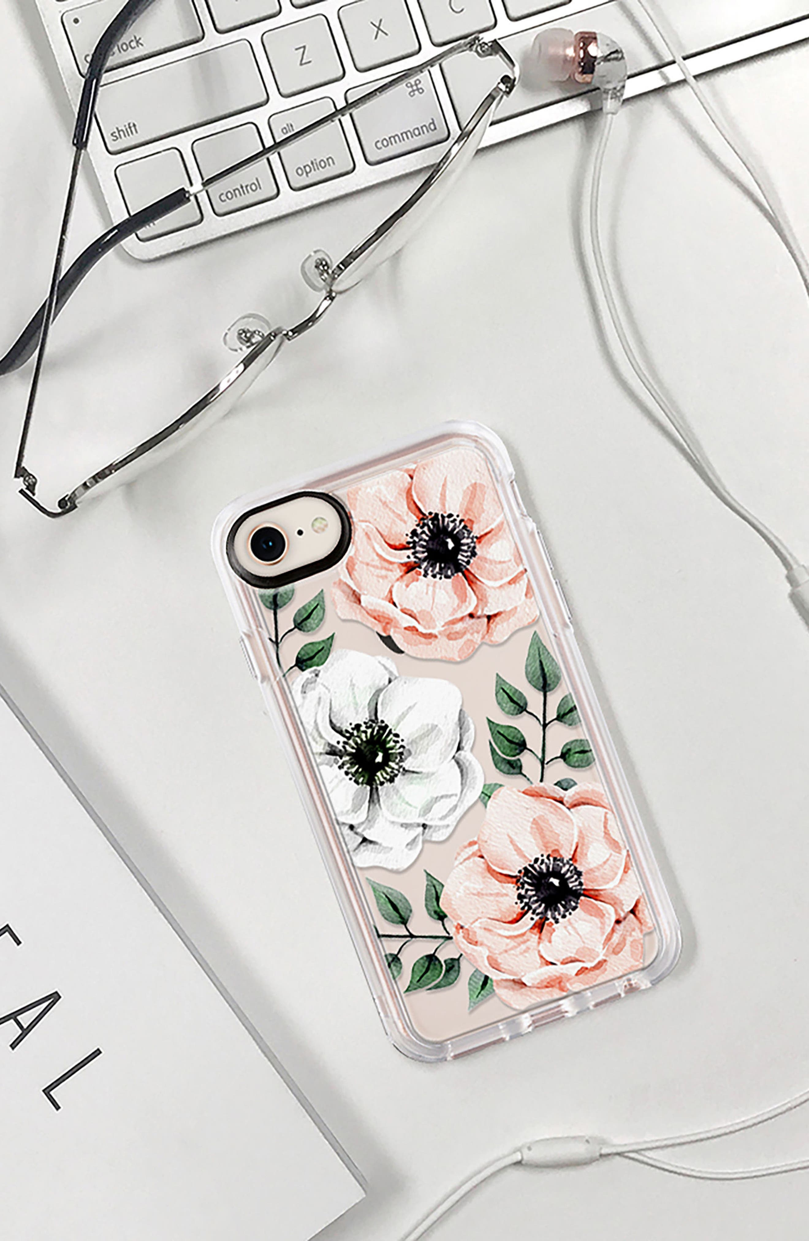 Watercolor Grip iPhone 7/8 & 7/8 Plus Case,                             Alternate thumbnail 8, color,                             PINK AND WHITE