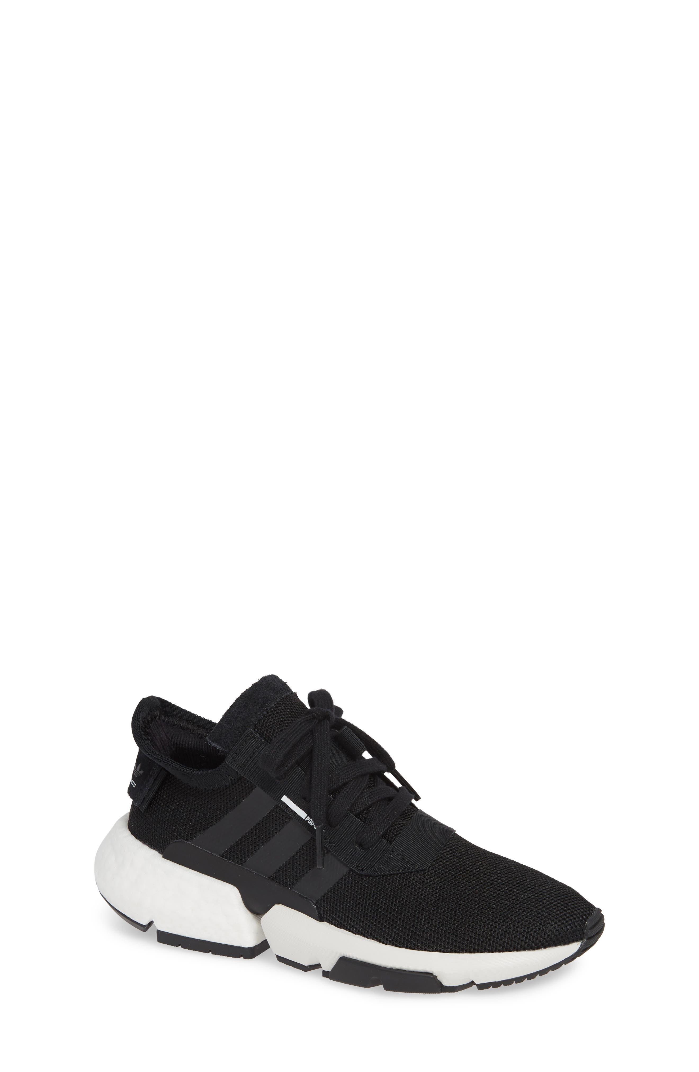POD-S3.1 Sneaker, Main, color, CORE BLACK/ BLACK/ LEGEND IVY