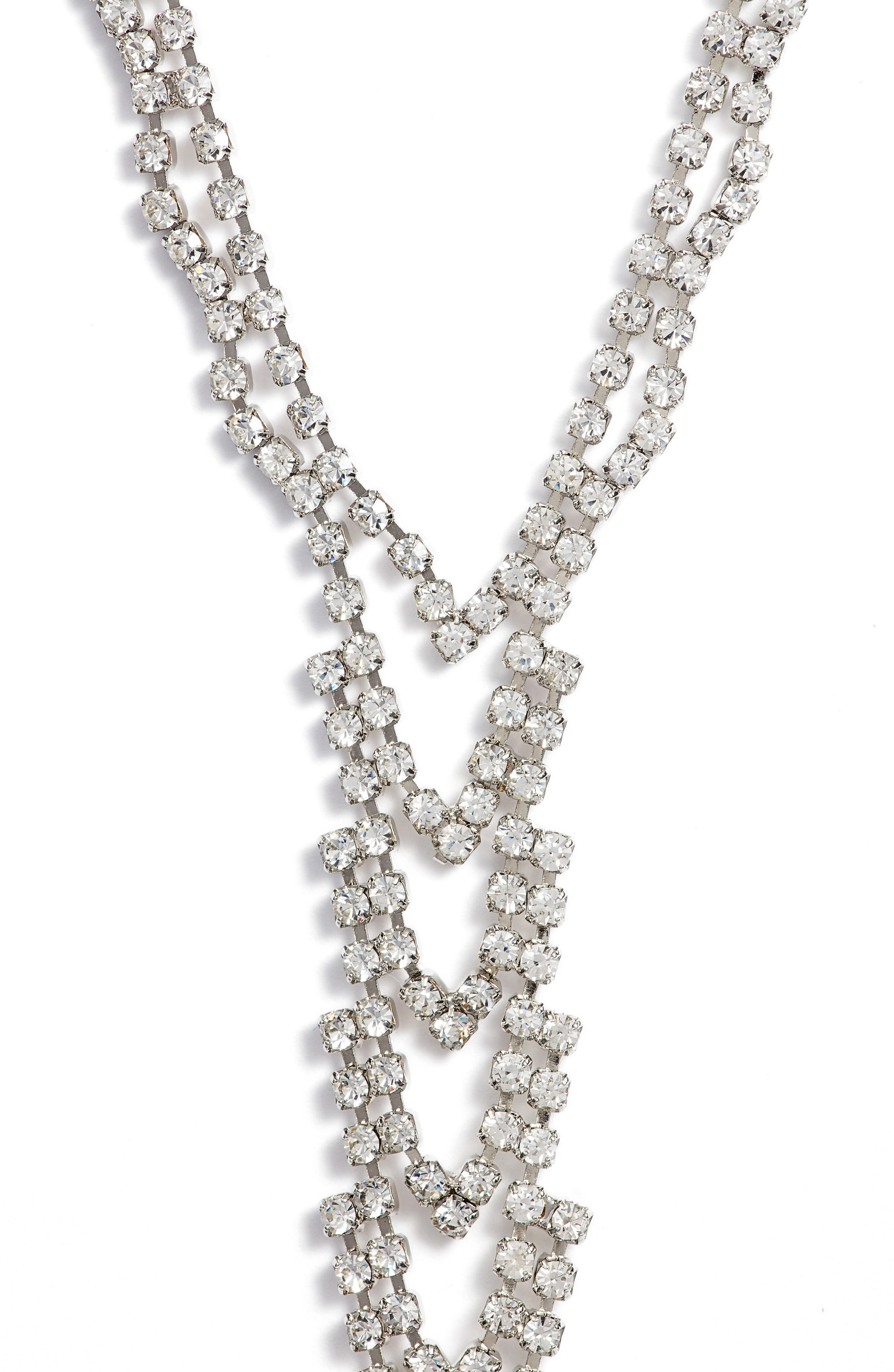 Crystal Ladder Necklace,                         Main,                         color, 040