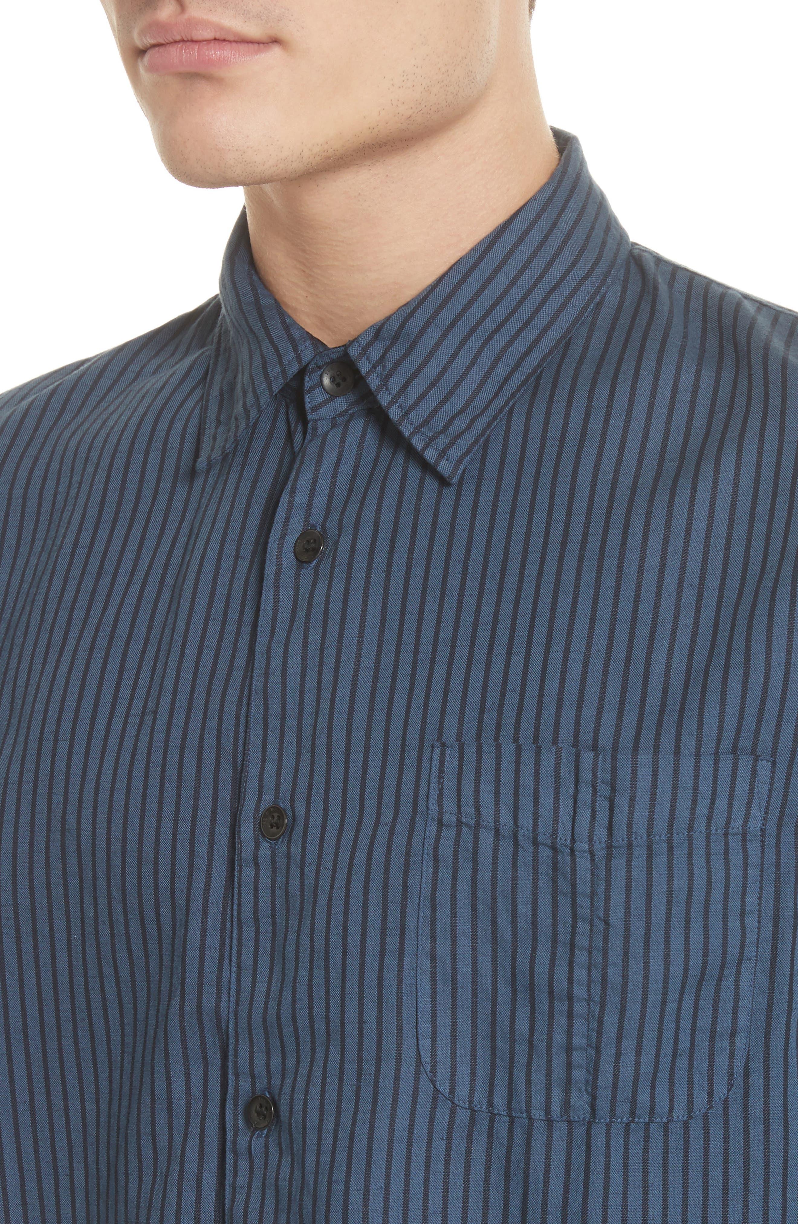 Beach Fit 3 Stripe Shirt,                             Alternate thumbnail 4, color,