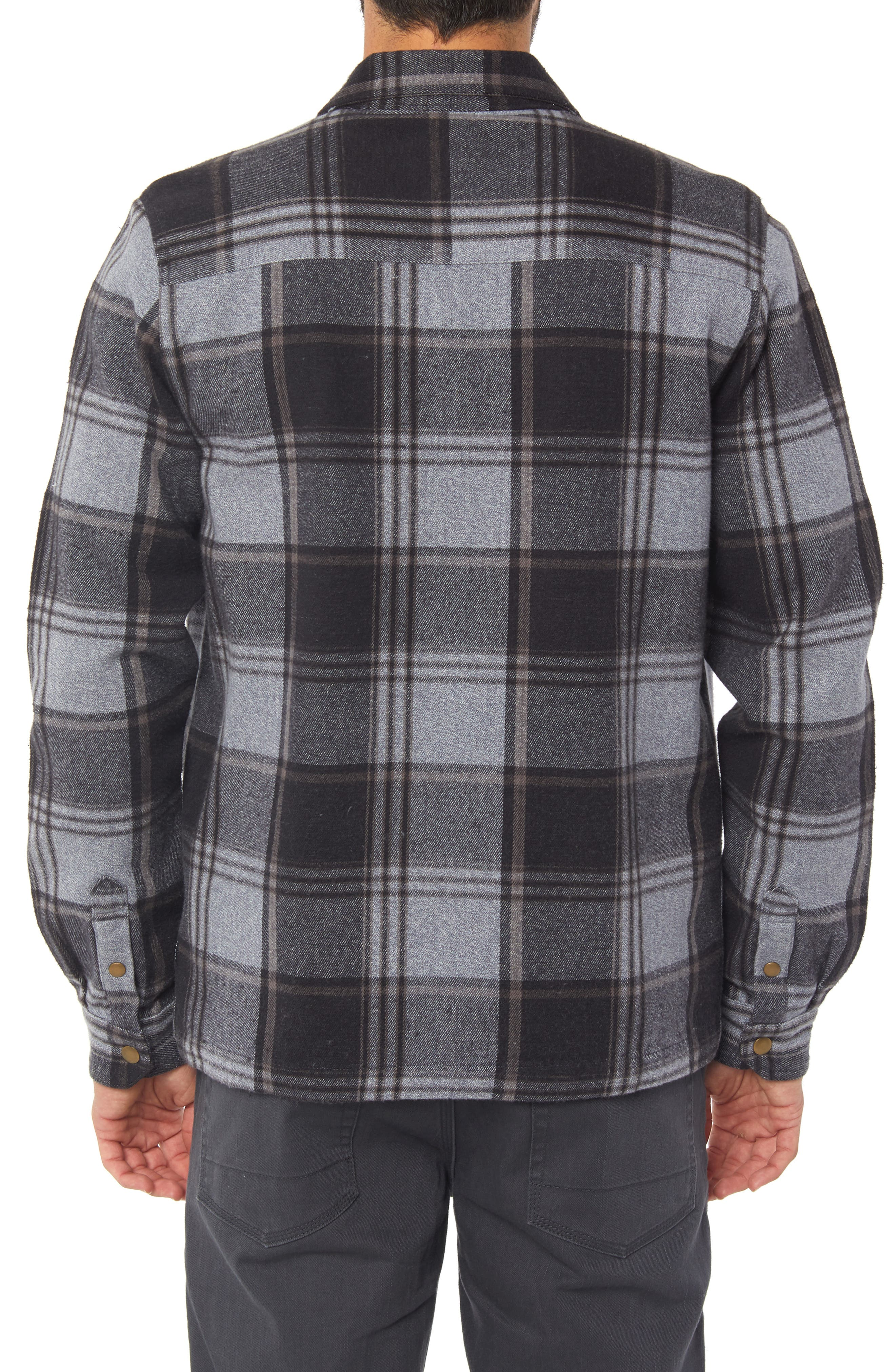 Lodge Flannel Shirt Jacket,                             Alternate thumbnail 2, color,                             ASPHALT