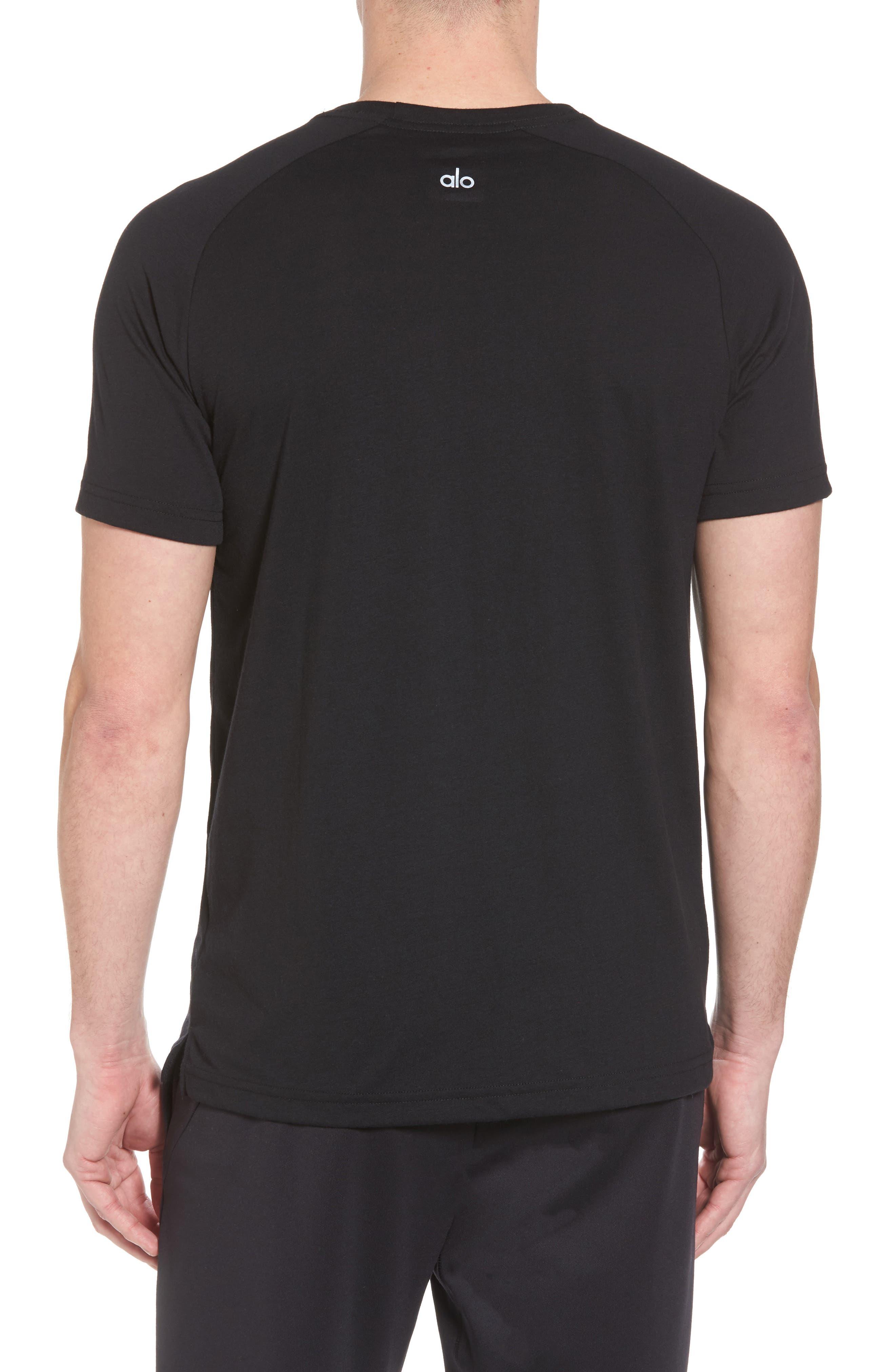 The Triumph Crewneck T-Shirt,                             Alternate thumbnail 2, color,                             SOLID BLACK TRIBLEND