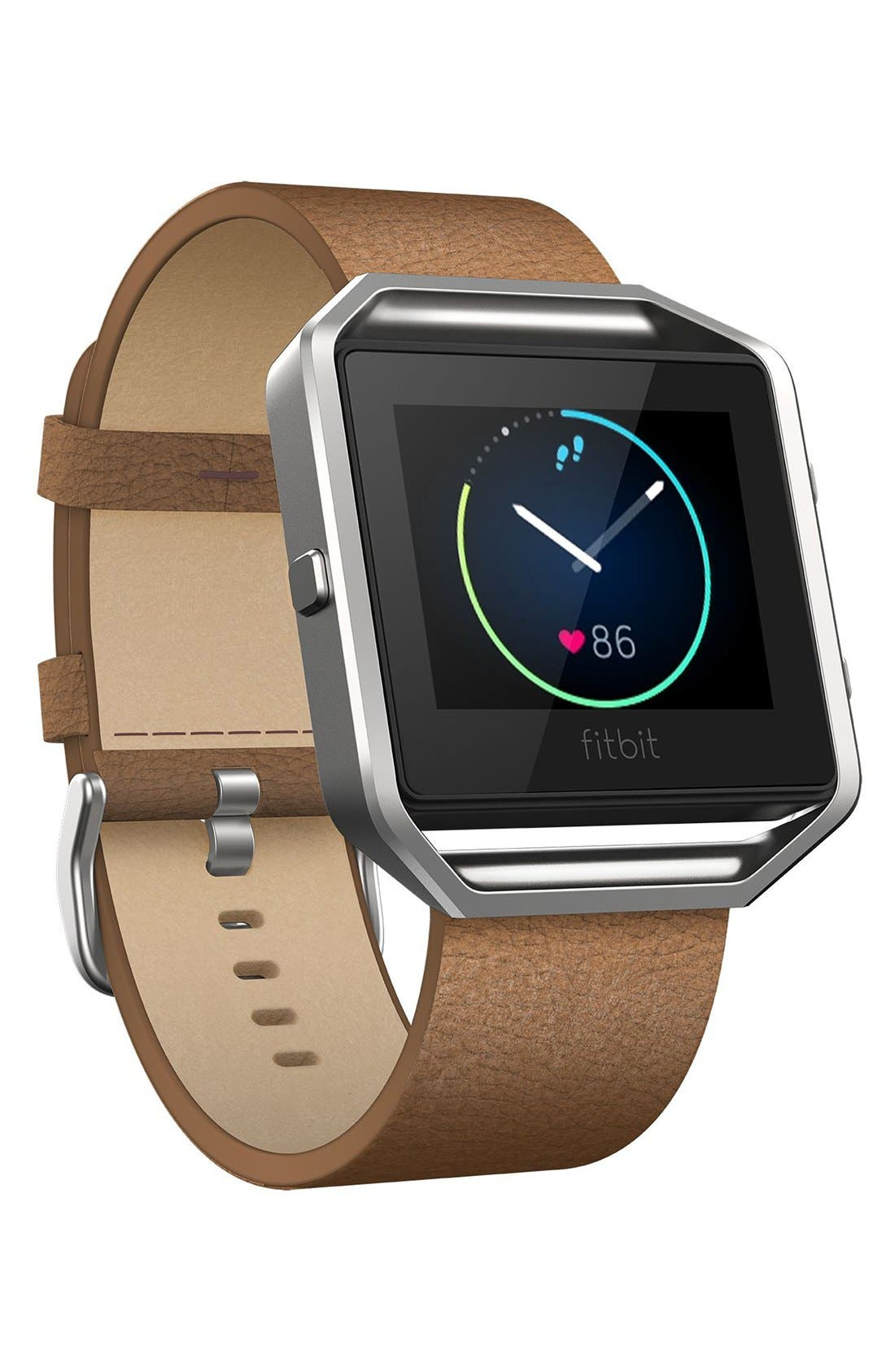 Blaze Leather Smart Watch Band,                             Alternate thumbnail 5, color,                             250