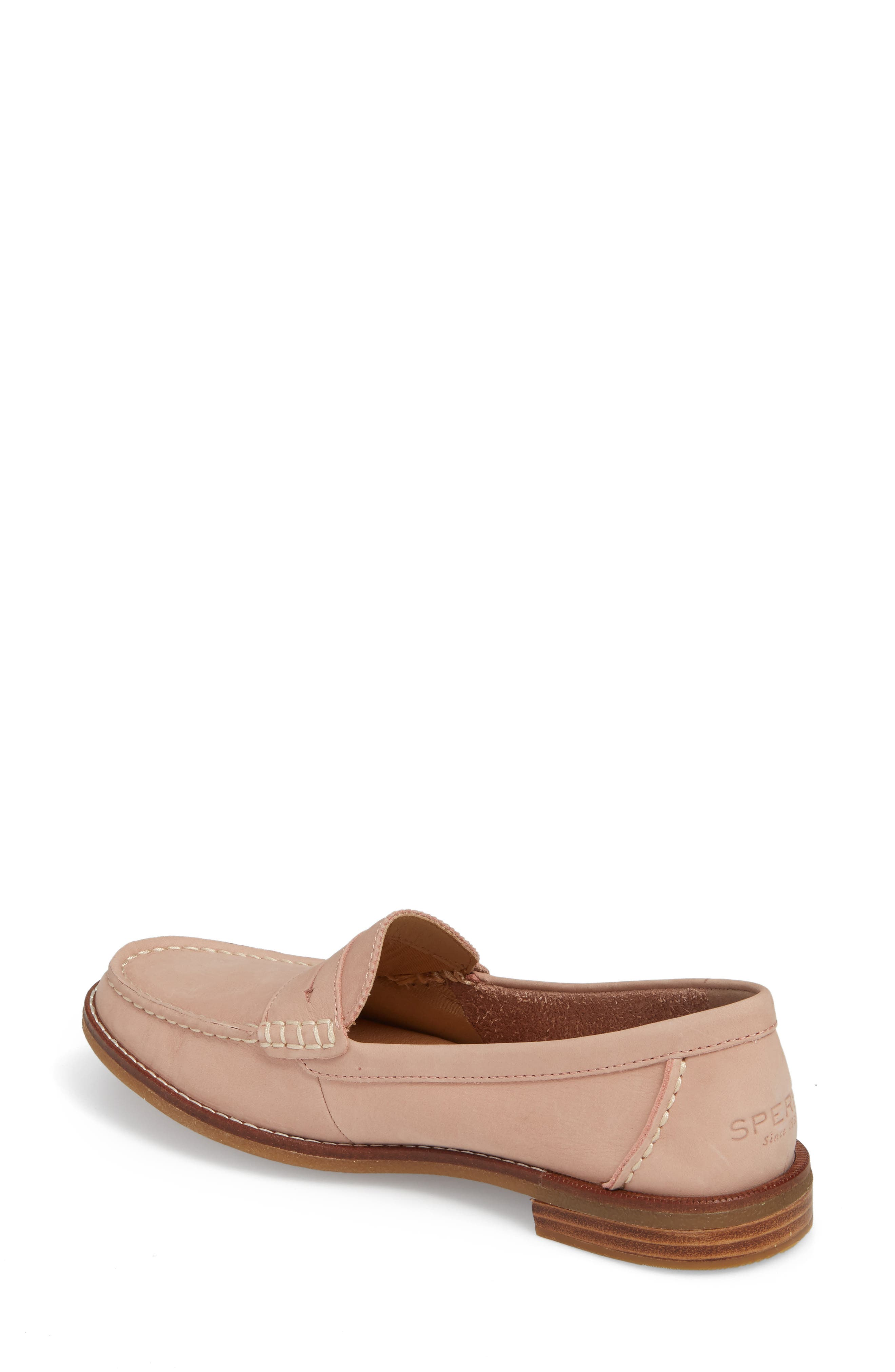 Seaport Penny Loafer,                             Alternate thumbnail 2, color,                             ROSE DUST LEATHER