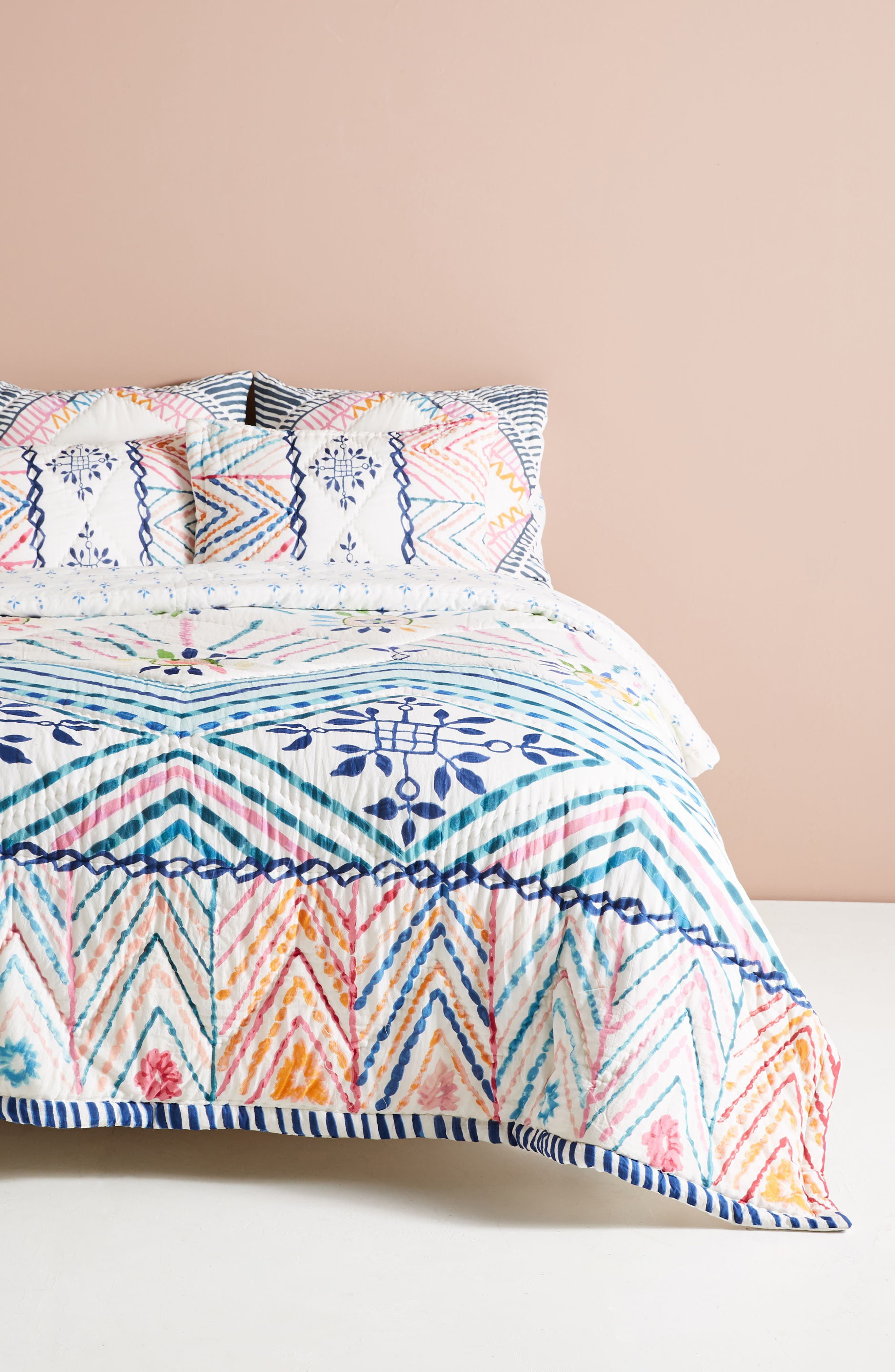 ANTHROPOLOGIE,                             Zadar Quilt,                             Main thumbnail 1, color,                             100
