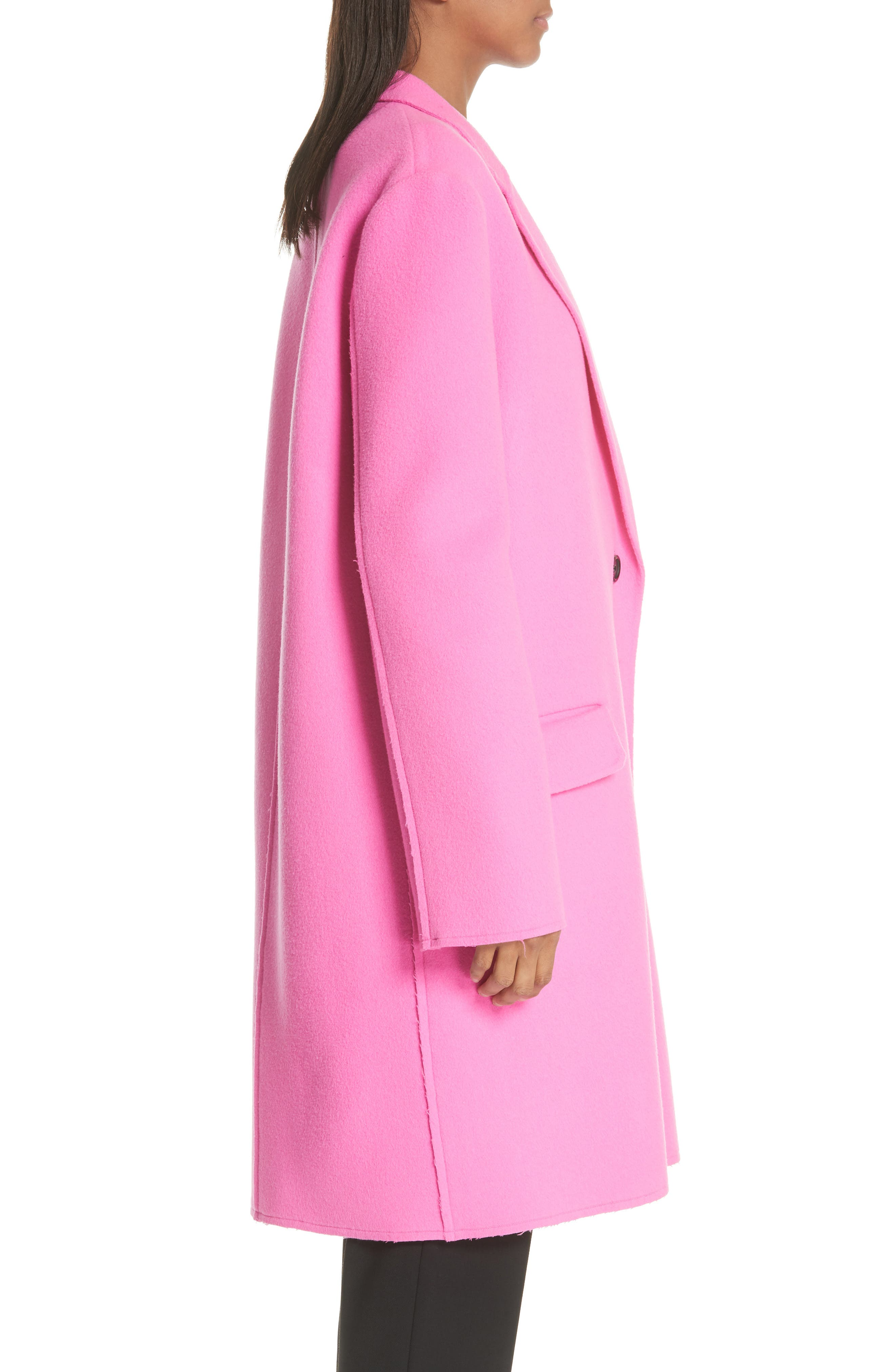 Double Face Wool & Cashmere Coat,                             Alternate thumbnail 3, color,                             694