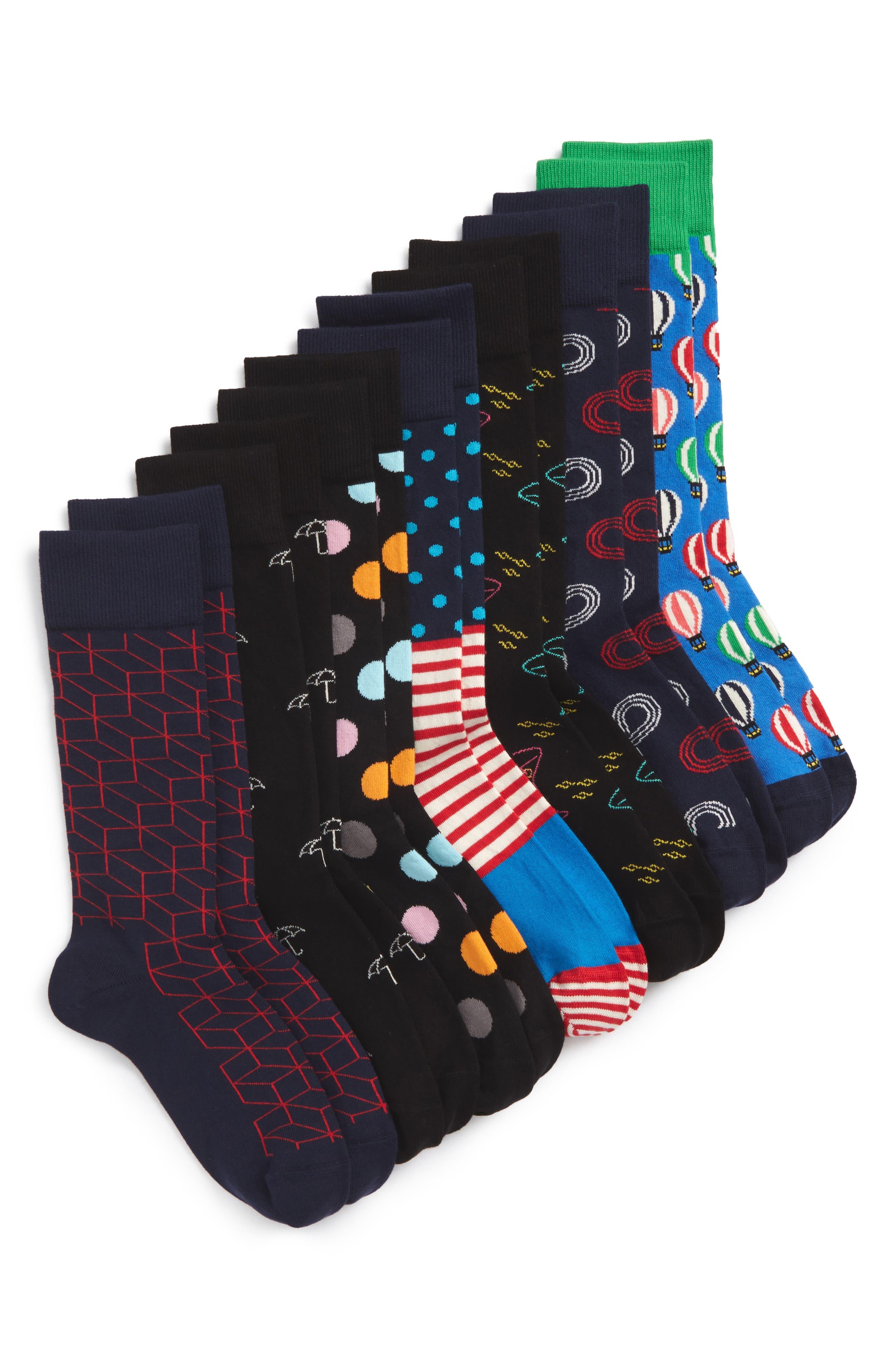 7 Days Assorted 7-Pack Socks Gift Set,                         Main,                         color, 459