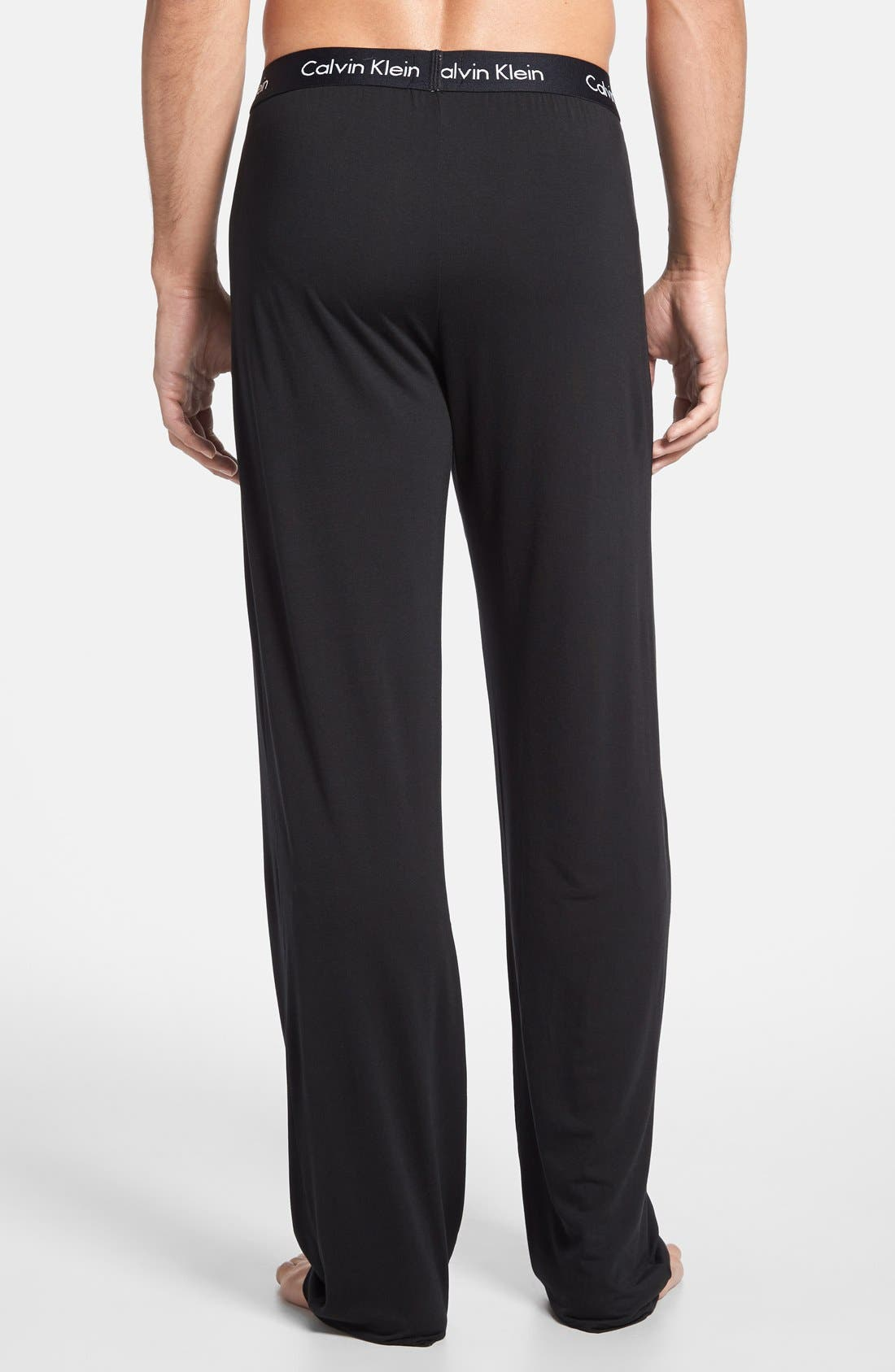 'U1143' Micromodal Lounge Pants,                             Alternate thumbnail 6, color,                             BLACK