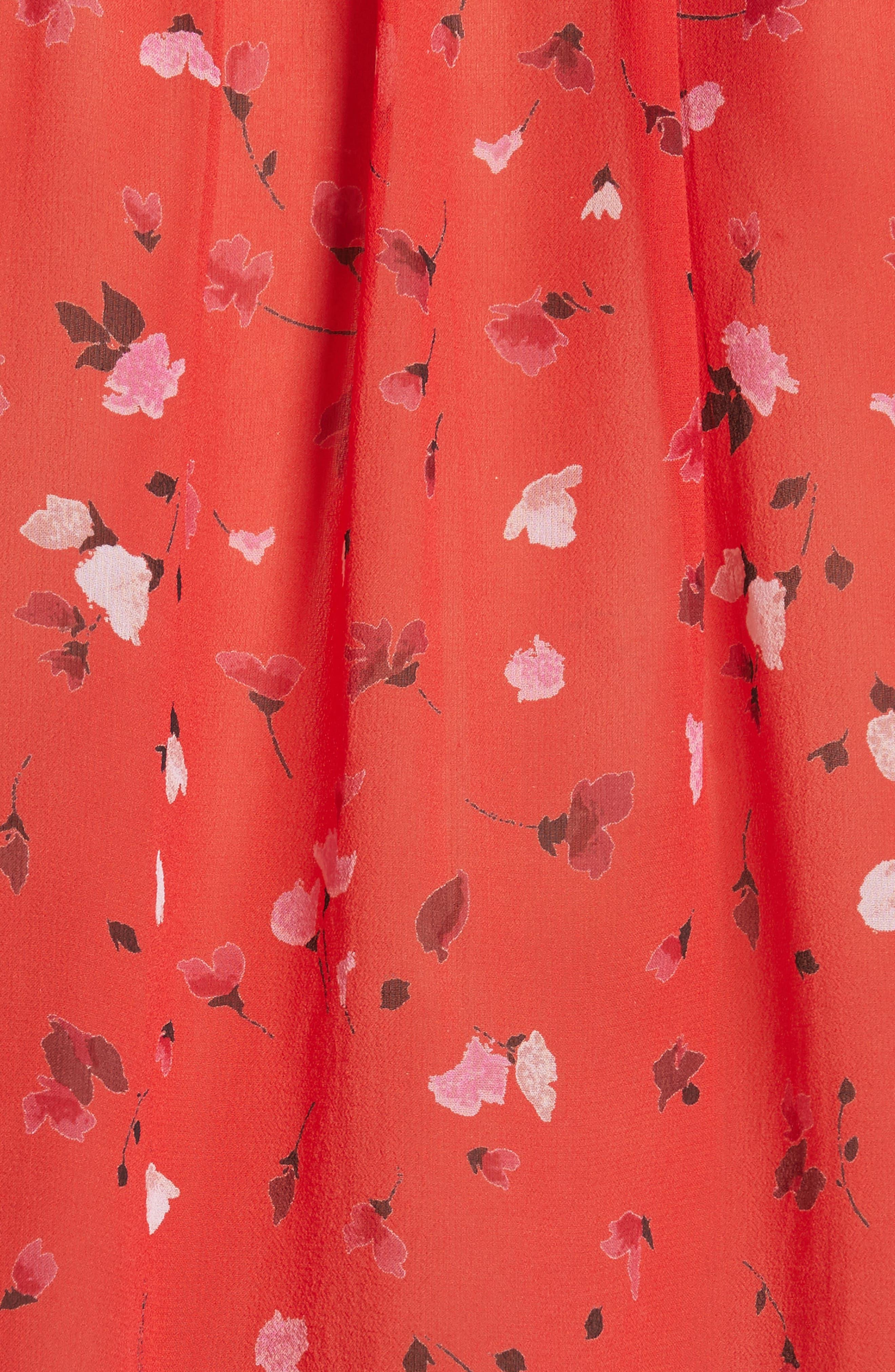 Gualberta Smocked Silk Chiffon Top,                             Alternate thumbnail 5, color,                             600