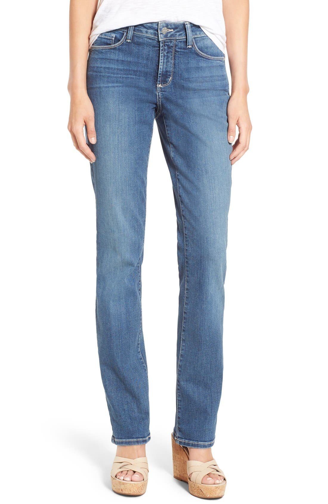 Marilyn Stretch Straight Leg Jeans,                         Main,                         color, HEYBURN