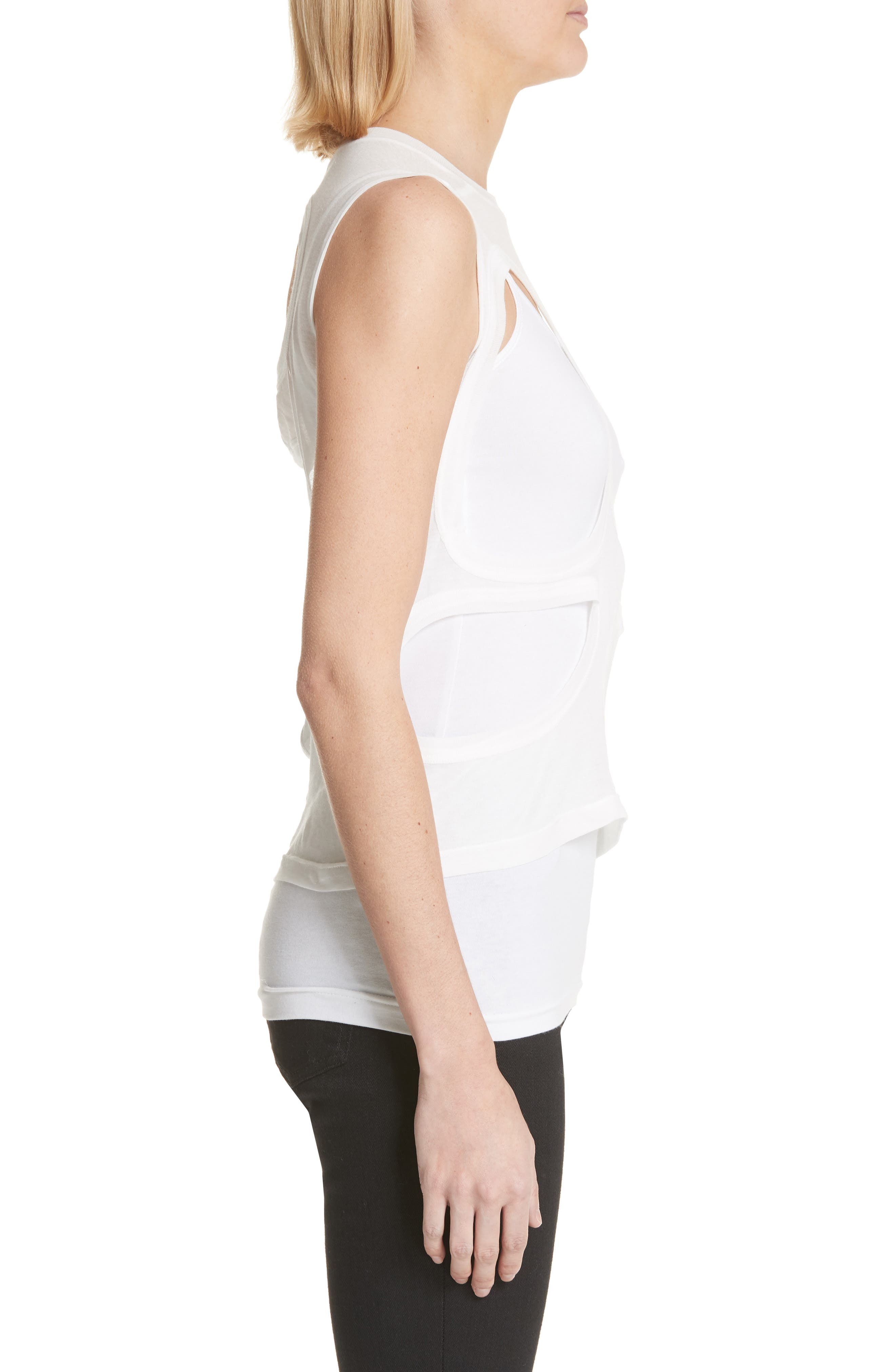 Membrane Cutout Tank Top,                             Alternate thumbnail 3, color,                             110