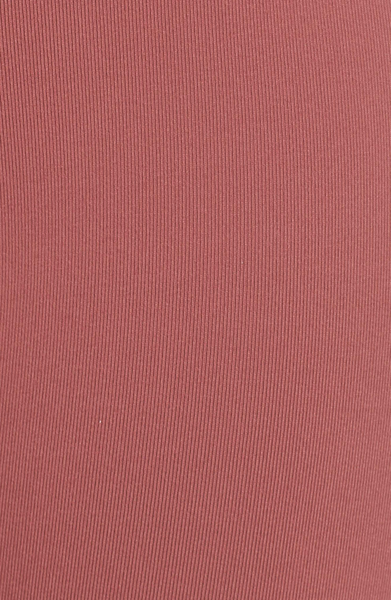 High Waist Airbrush Midi Leggings,                             Alternate thumbnail 6, color,                             ROSEWOOD