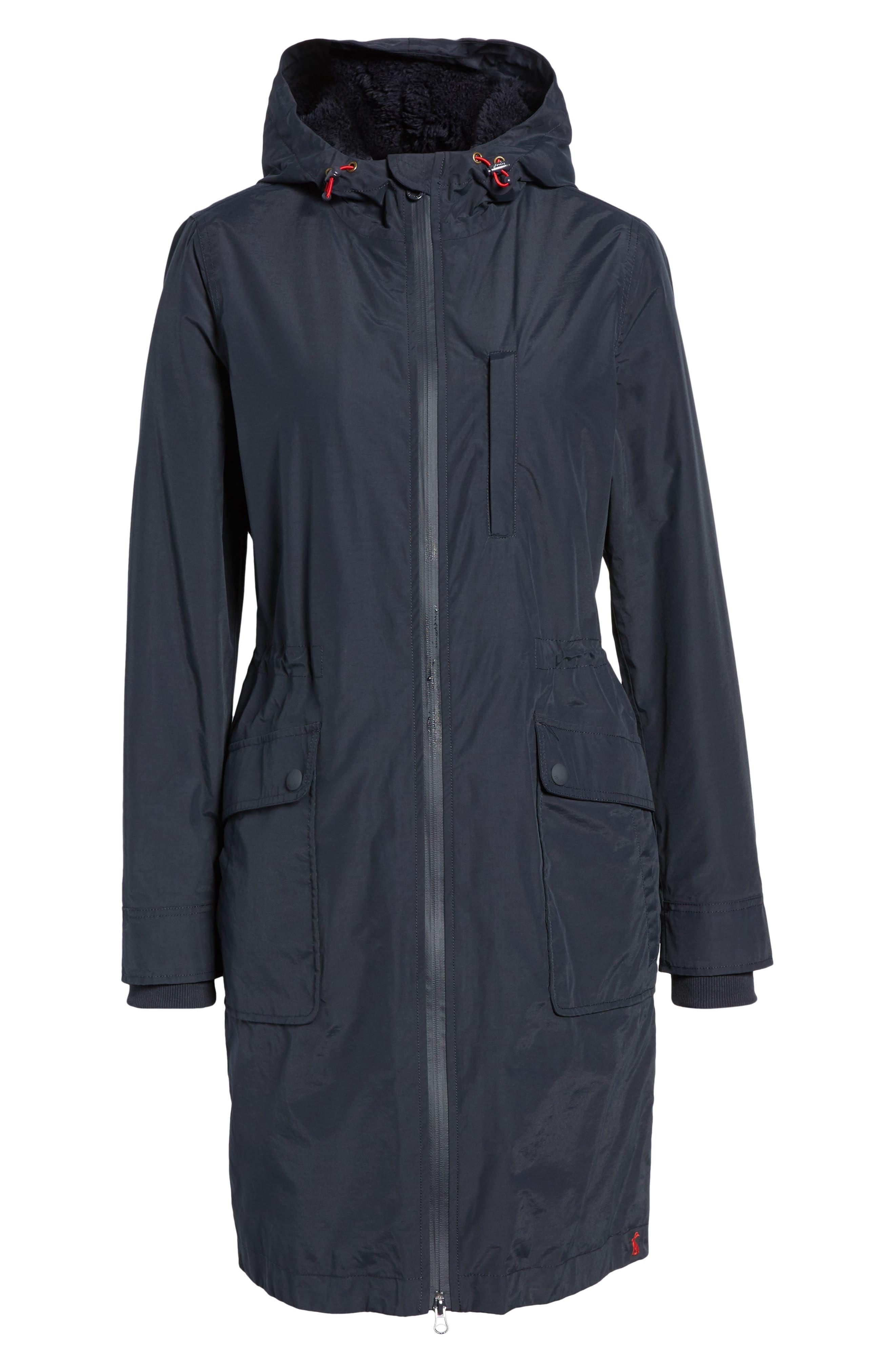 Hooded Fleece Lined Raincoat,                             Alternate thumbnail 5, color,