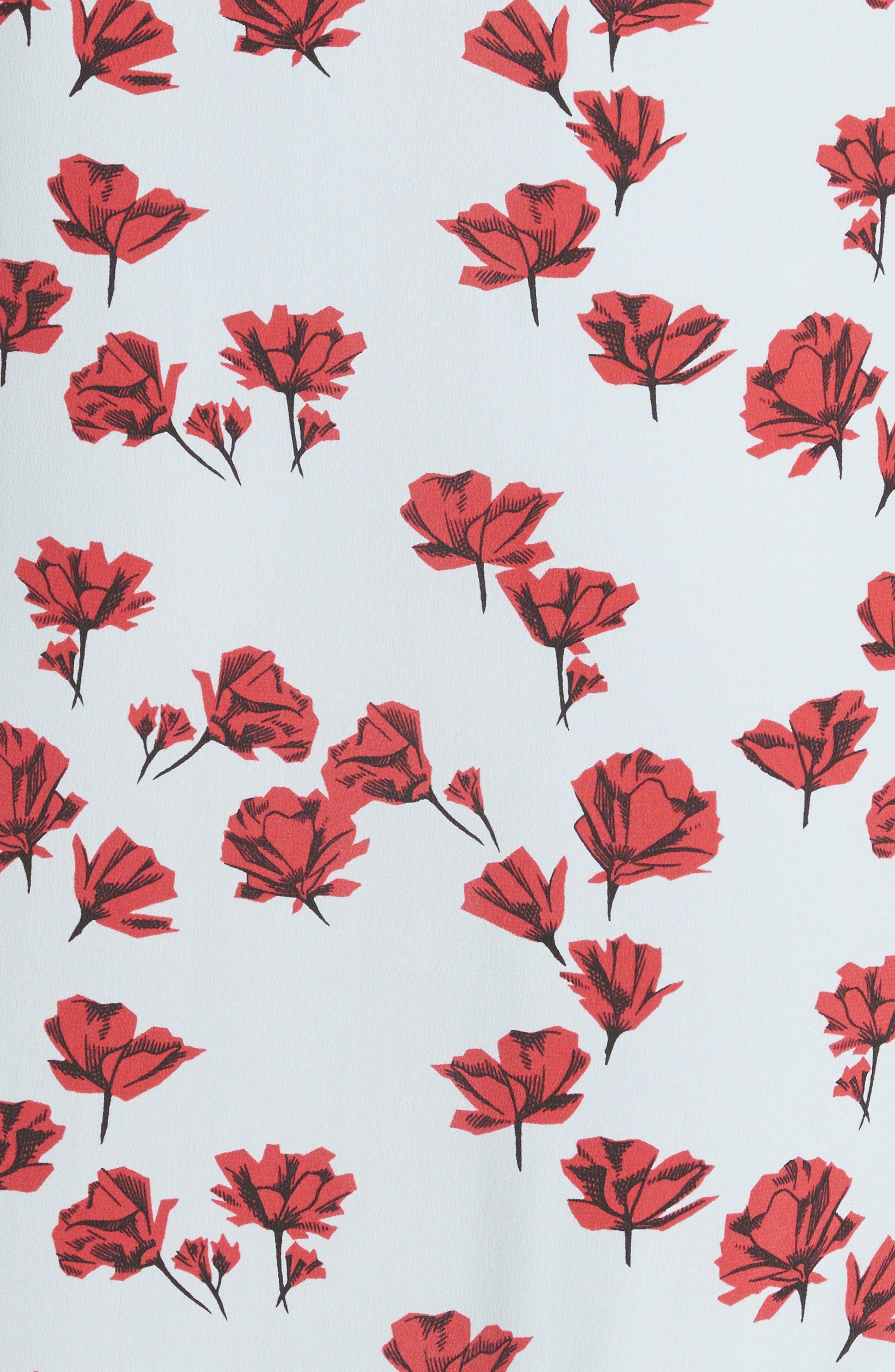 Jada Floral Print Silk Slipdress,                             Alternate thumbnail 5, color,