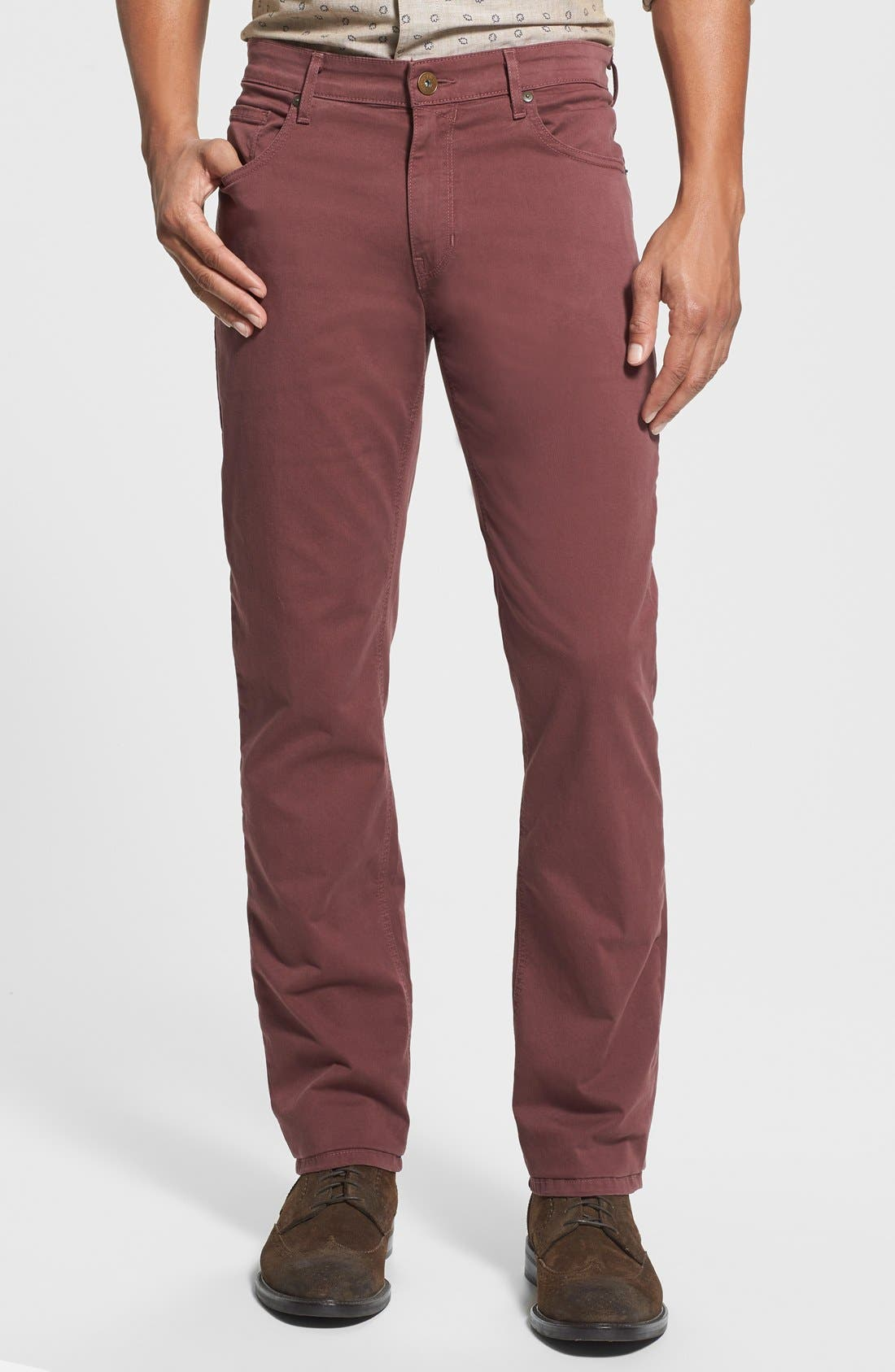 Normandie Slim Straight Leg Twill Pants,                             Main thumbnail 8, color,