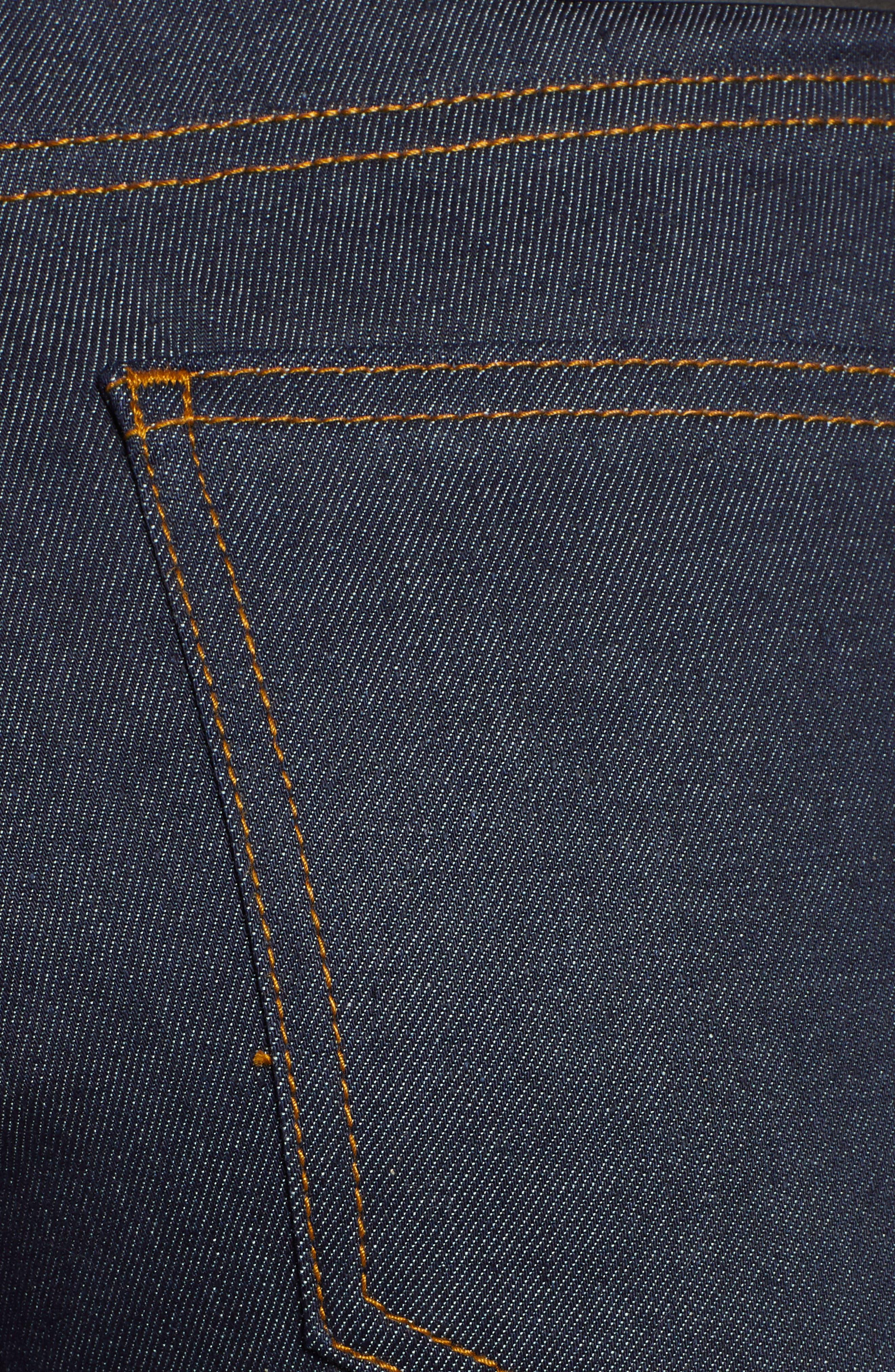 Edie High Waist Crop Jeans,                             Alternate thumbnail 6, color,                             RINSED BLUE