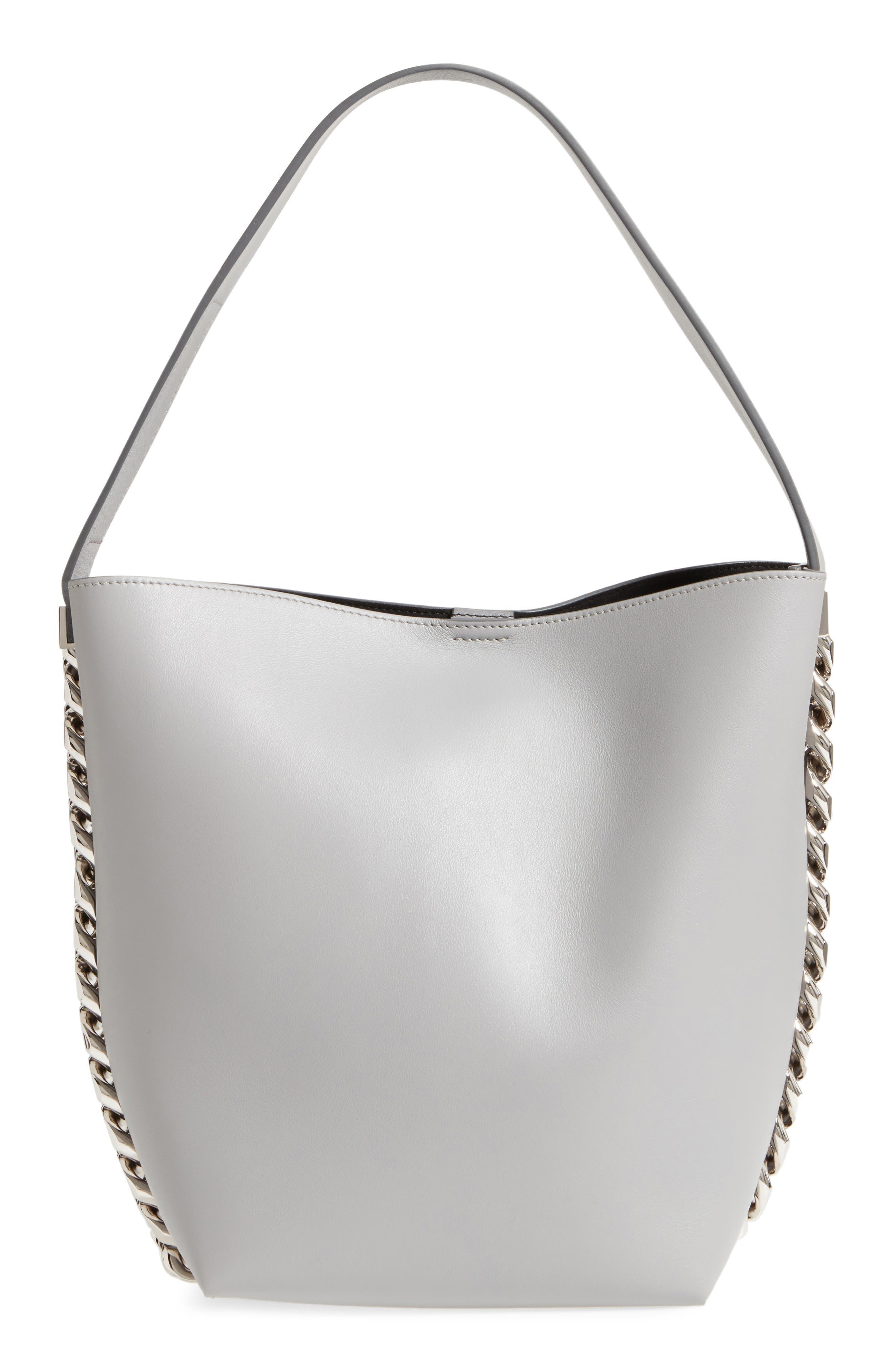 Infinity Calfskin Leather Bucket Bag,                         Main,                         color, 051