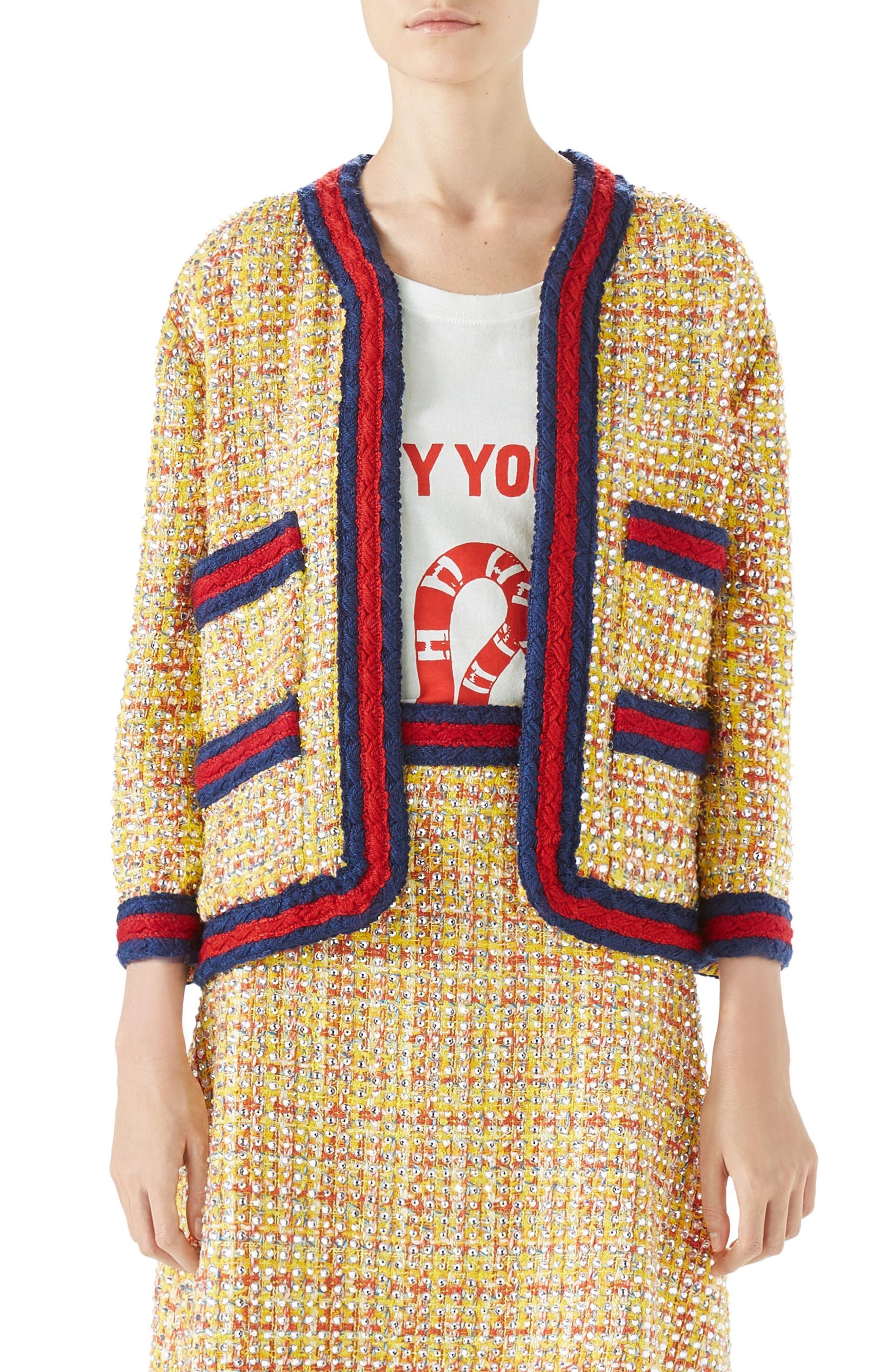 Crystal Tweed Jacket,                             Main thumbnail 1, color,                             767
