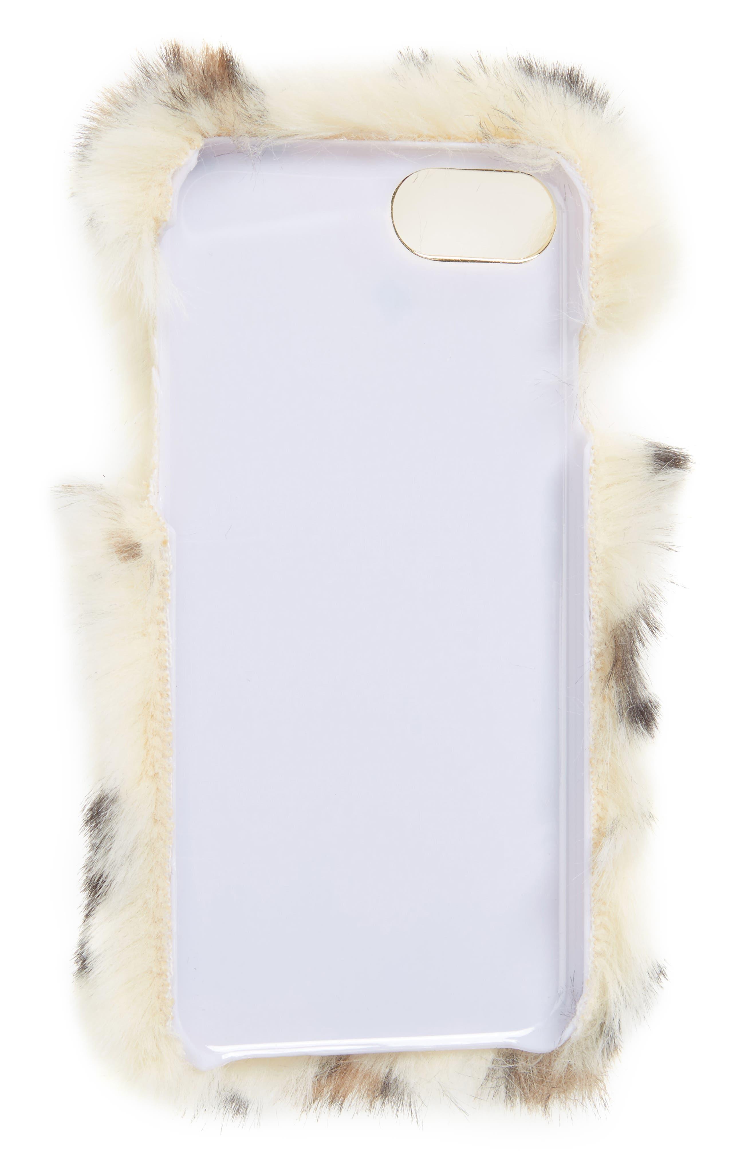 Faux Leopard iPhone 6/6s/7 Case,                             Alternate thumbnail 2, color,