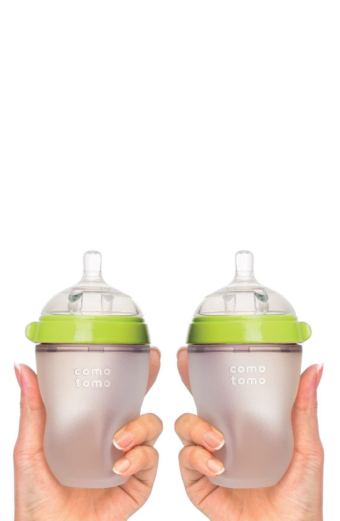 Set of 2 Baby Bottles,                             Alternate thumbnail 2, color,                             GREEN