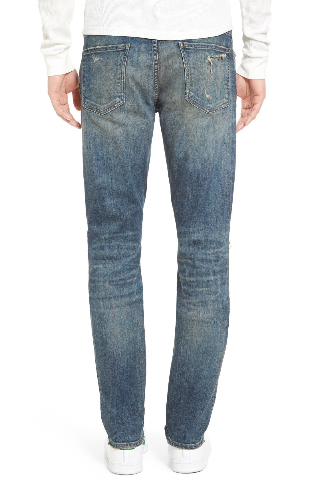 Bowery Slim Fit Jeans,                             Alternate thumbnail 4, color,