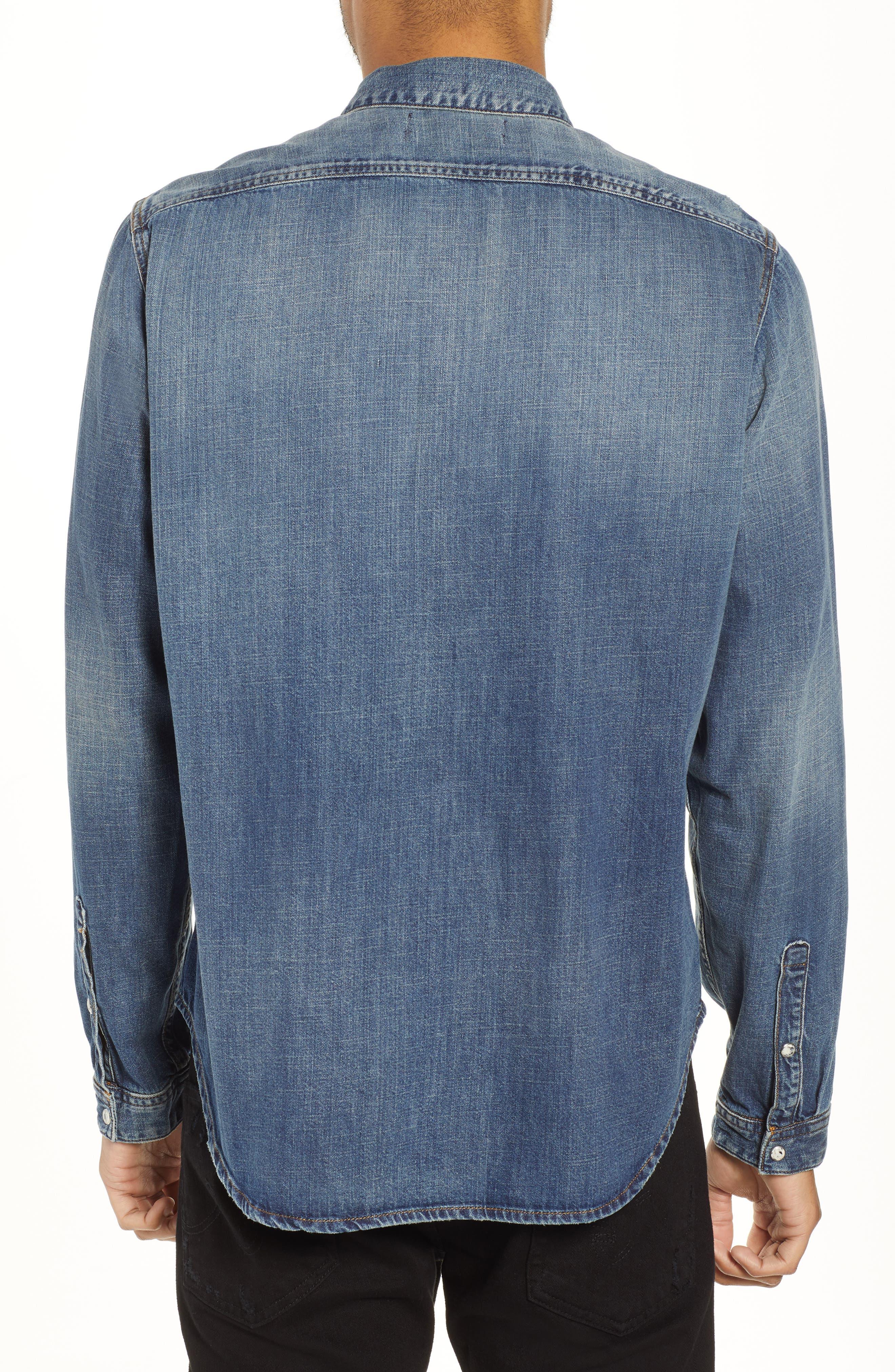 Regular Fit Denim Sport Shirt,                             Alternate thumbnail 2, color,                             420