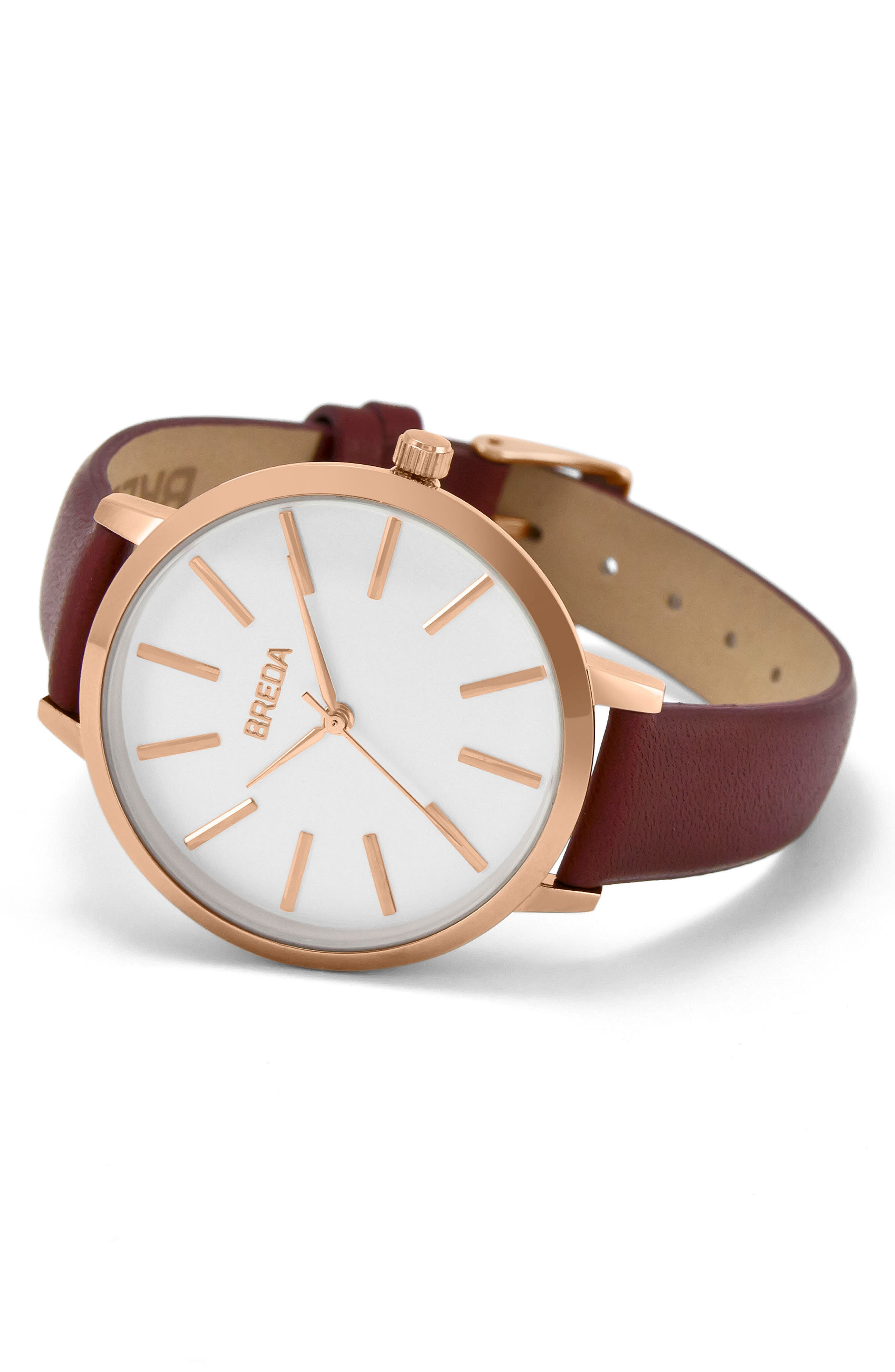 Joule Round Leather Strap Watch, 37mm,                             Alternate thumbnail 13, color,