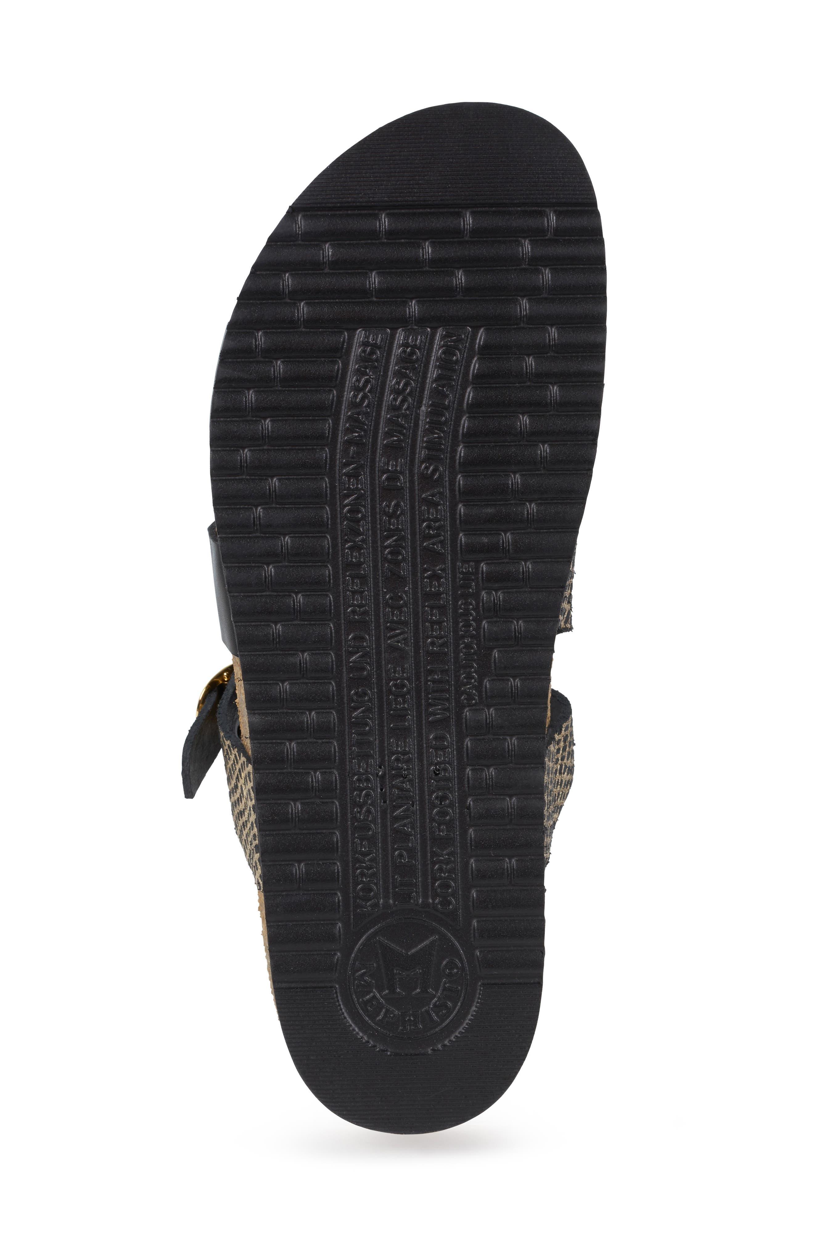MEPHISTO,                             'Hannel' Sandal,                             Alternate thumbnail 6, color,                             BLACK CUBA WAXY LEATHER