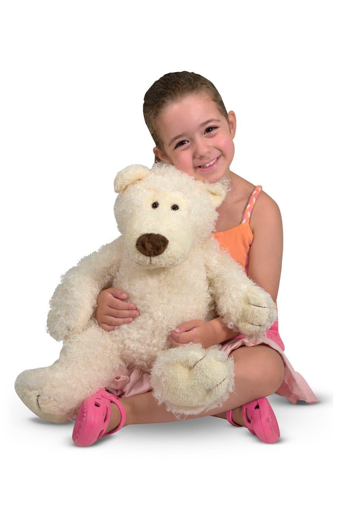 'Big Roscoe' Stuffed Bear,                             Main thumbnail 1, color,                             WHITE