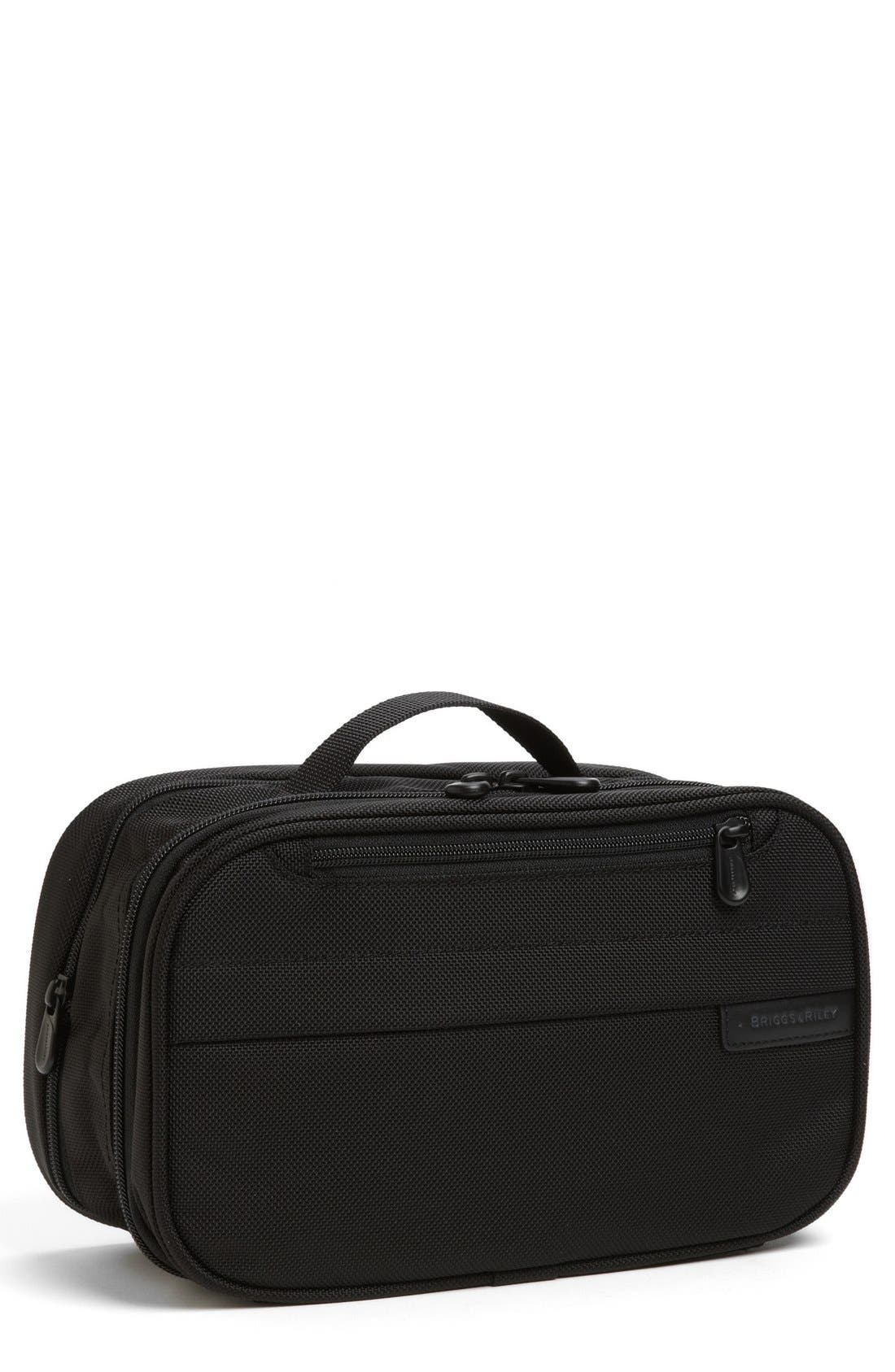 BRIGGS & RILEY Baseline Expandable Toiletry Kit, Main, color, BLACK