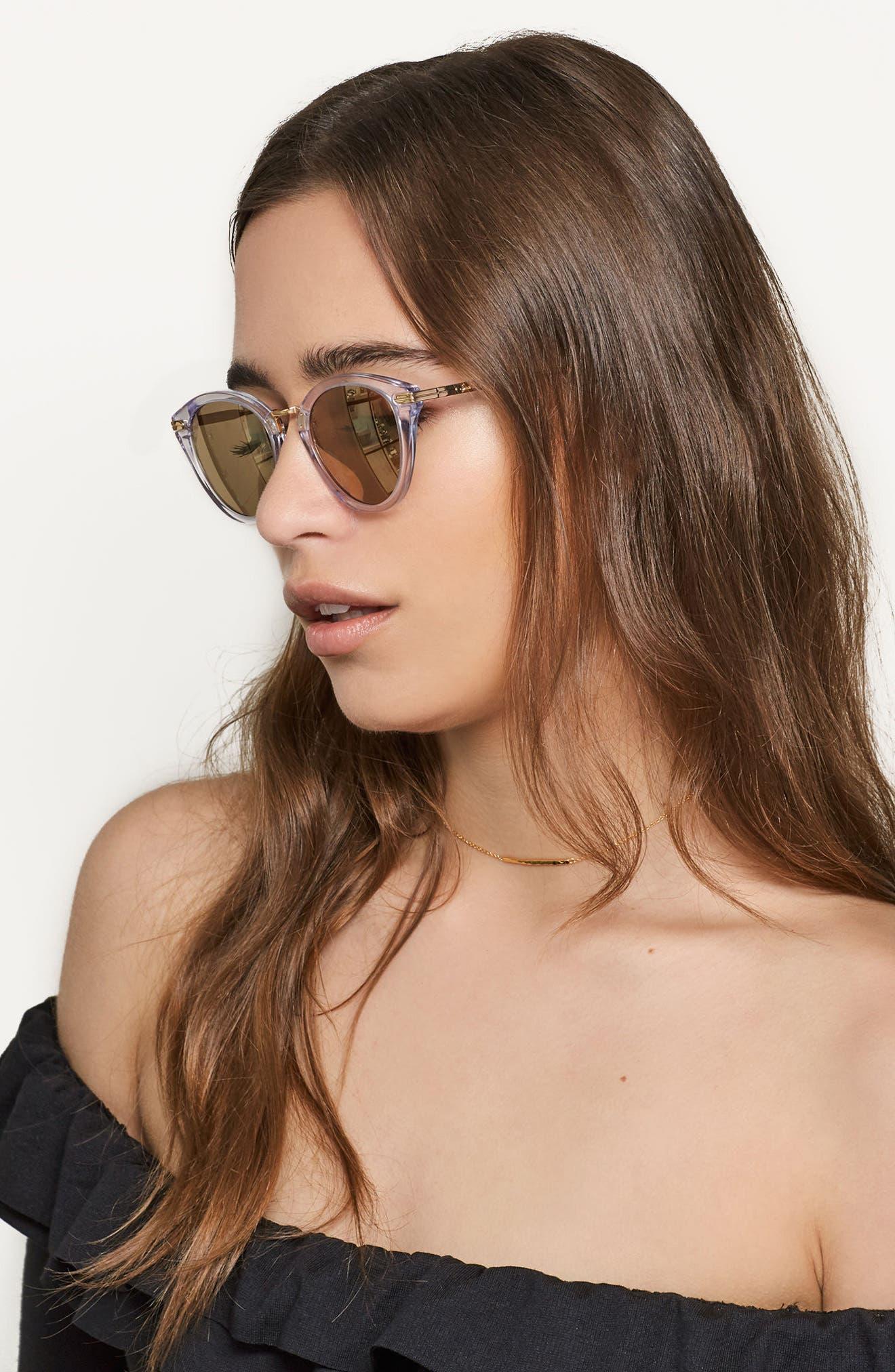 Quinn 48mm Cat Eye Sunglasses,                             Alternate thumbnail 14, color,