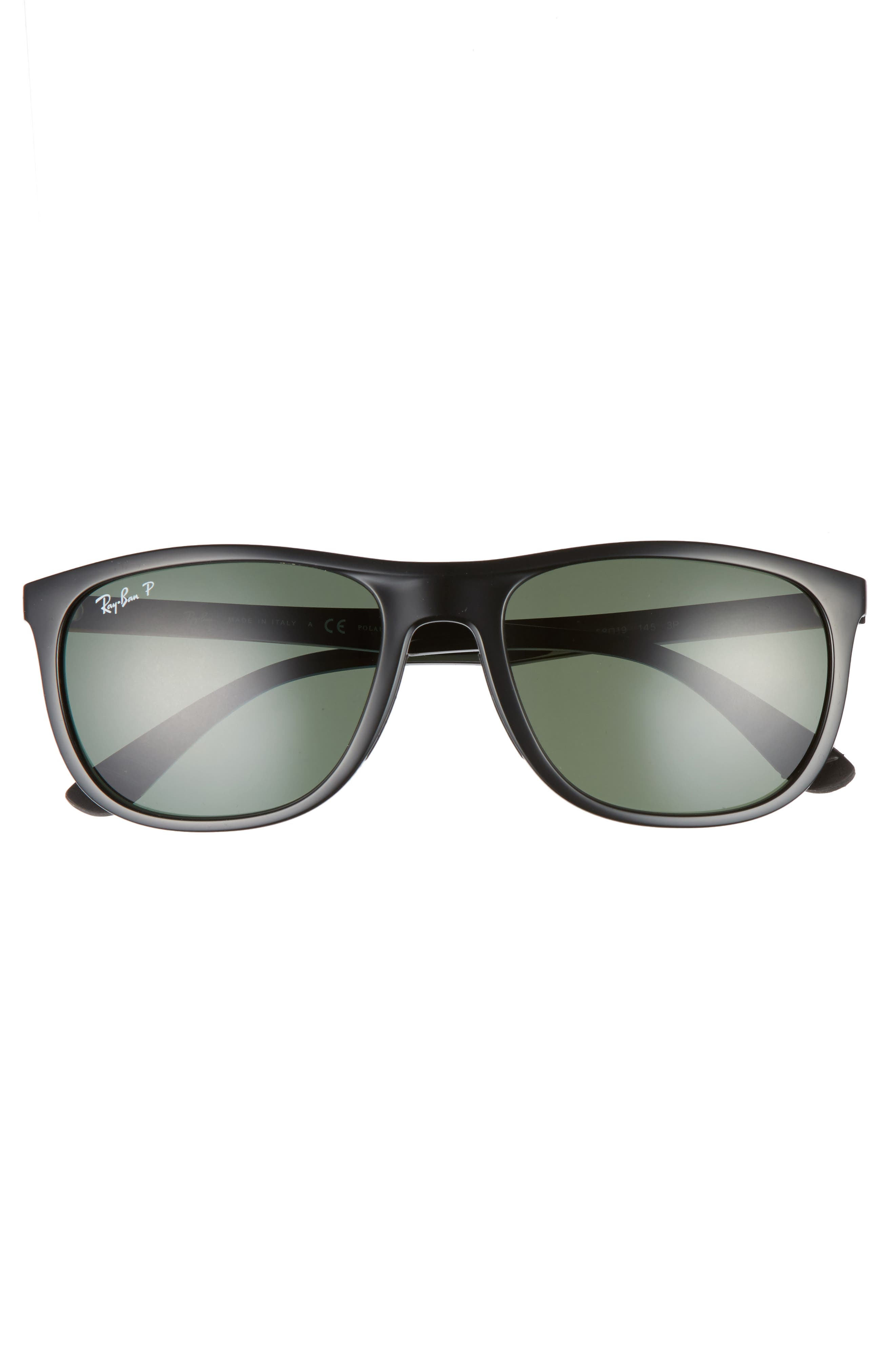 Active Lifestyle 58mm Sunglasses,                             Alternate thumbnail 2, color,                             BLACK POLARIZED
