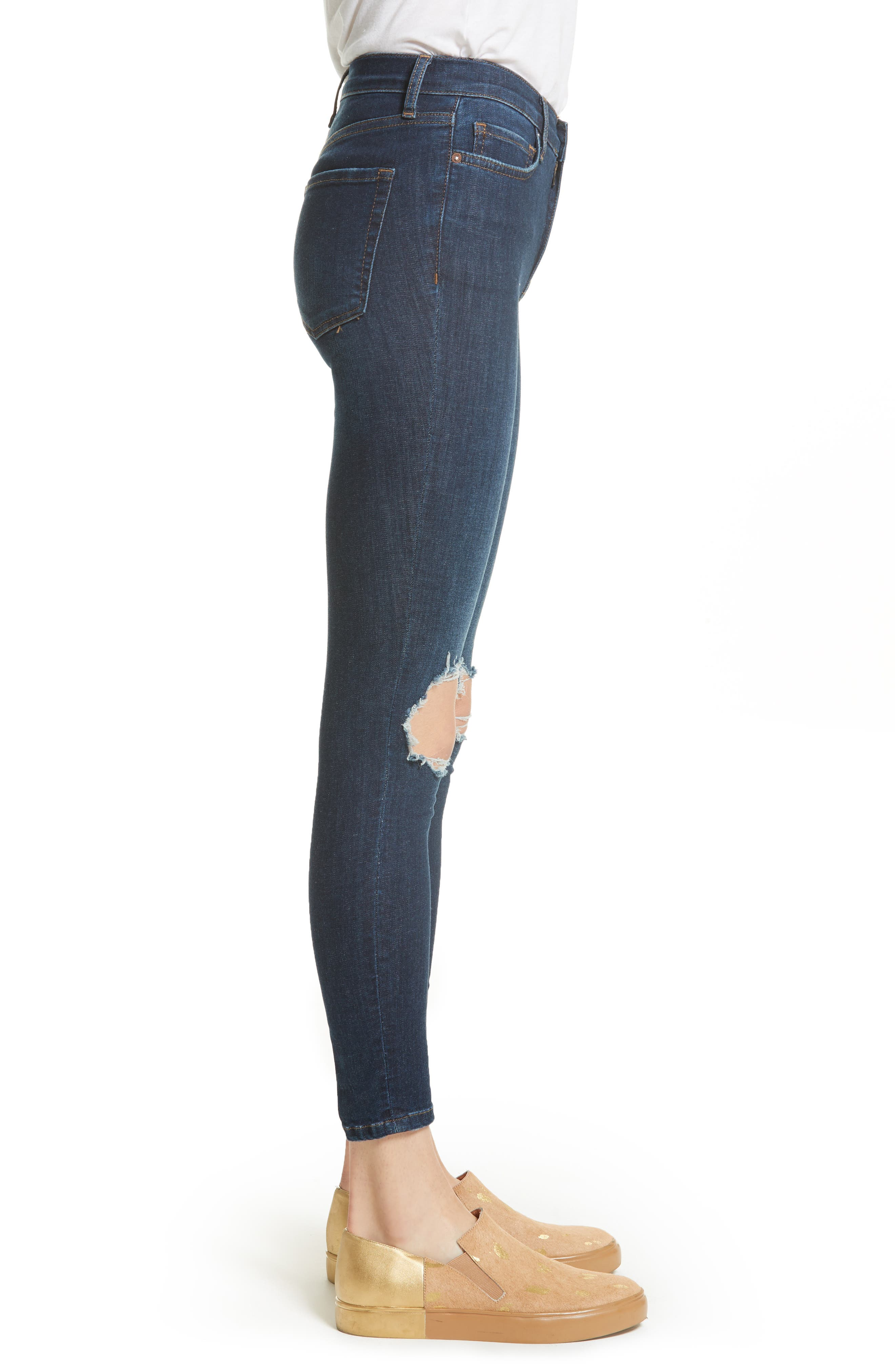 We the People by Free People High Rise Busted Knee Skinny Jeans,                             Alternate thumbnail 11, color,