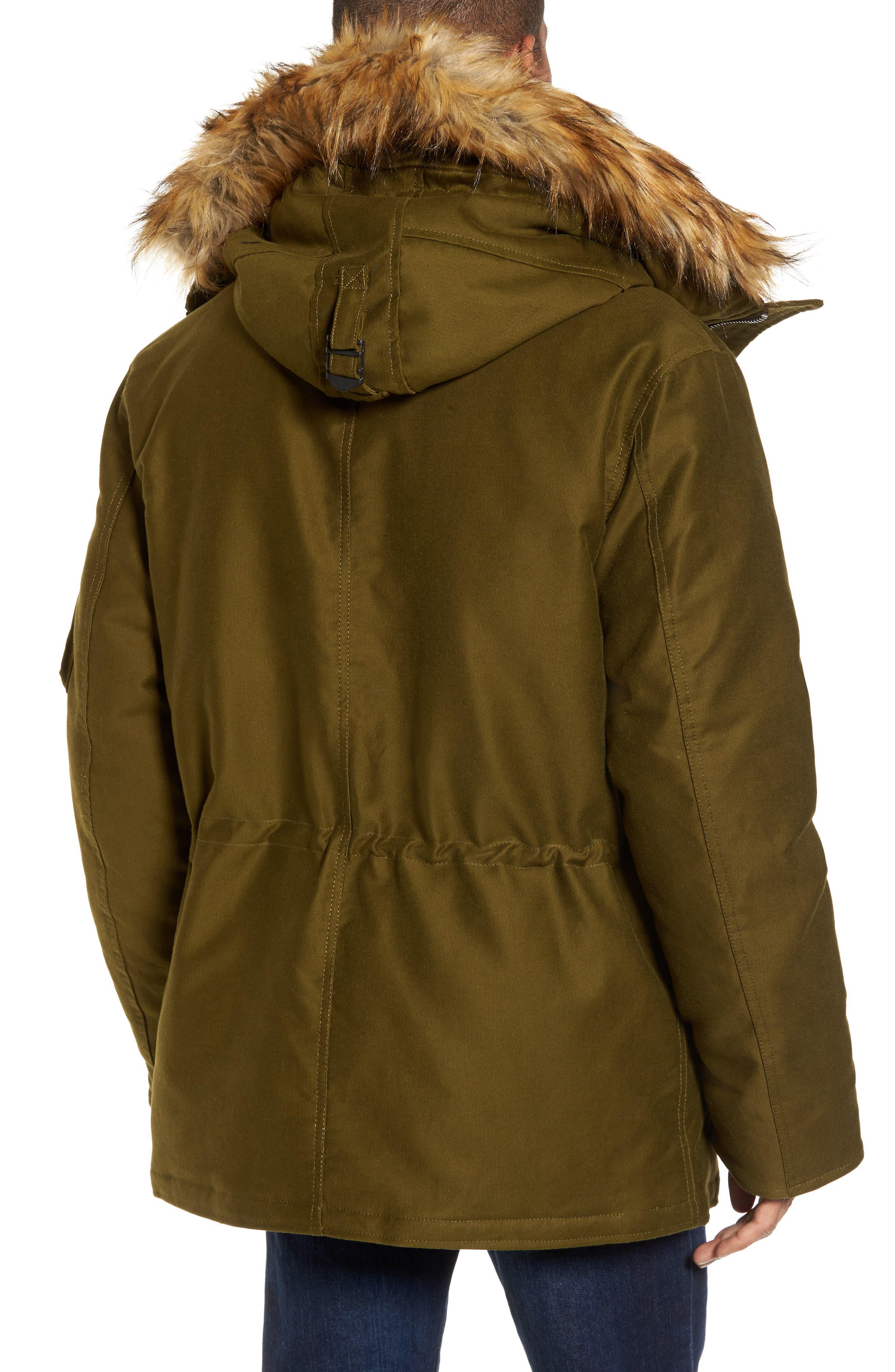 Bedford Corduroy Goose Down Jacket with Faux Fur Trim,                             Alternate thumbnail 2, color,                             352
