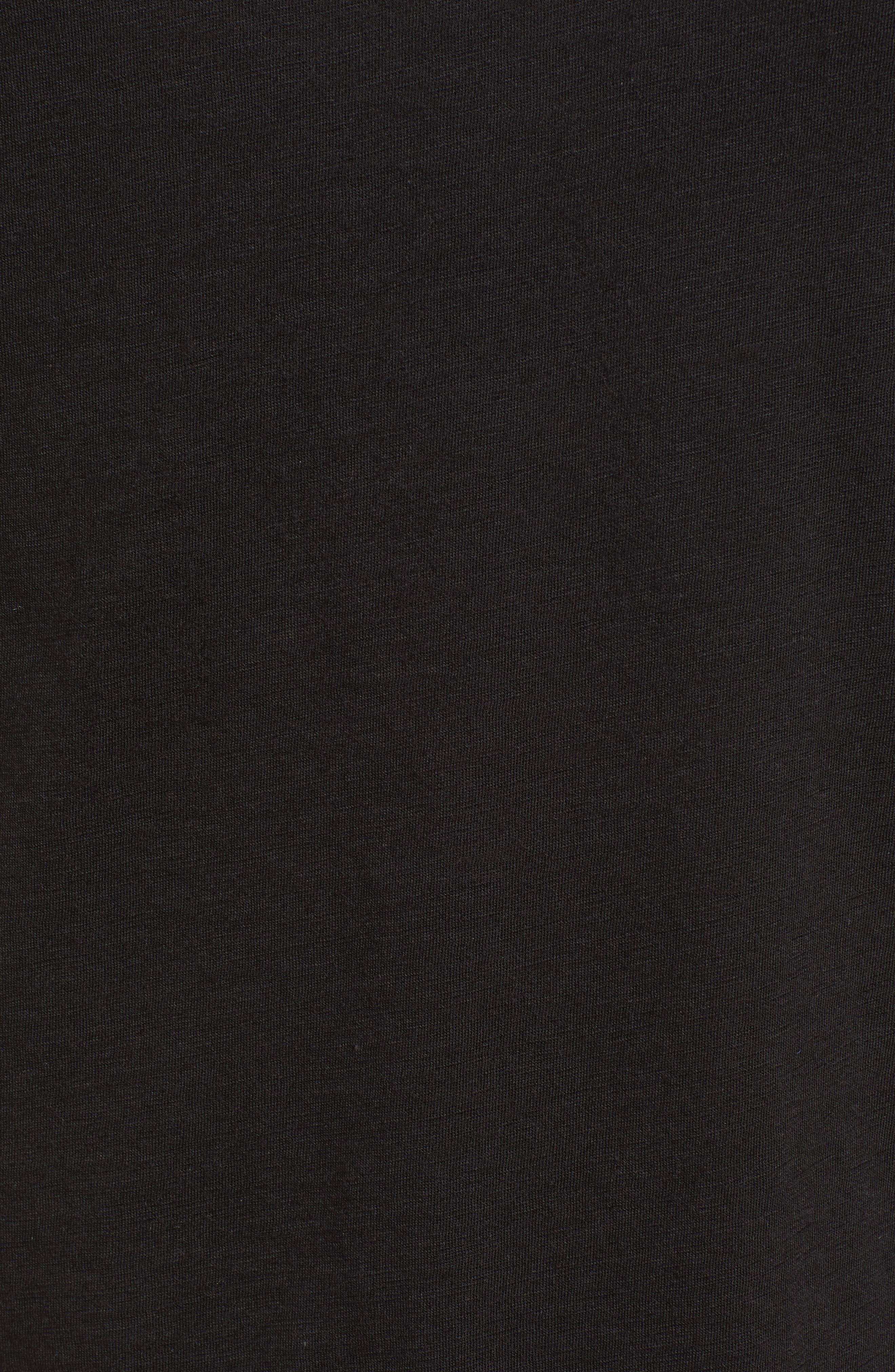 Stripe Sleeve Cotton Blend Athletic Tee,                             Alternate thumbnail 18, color,