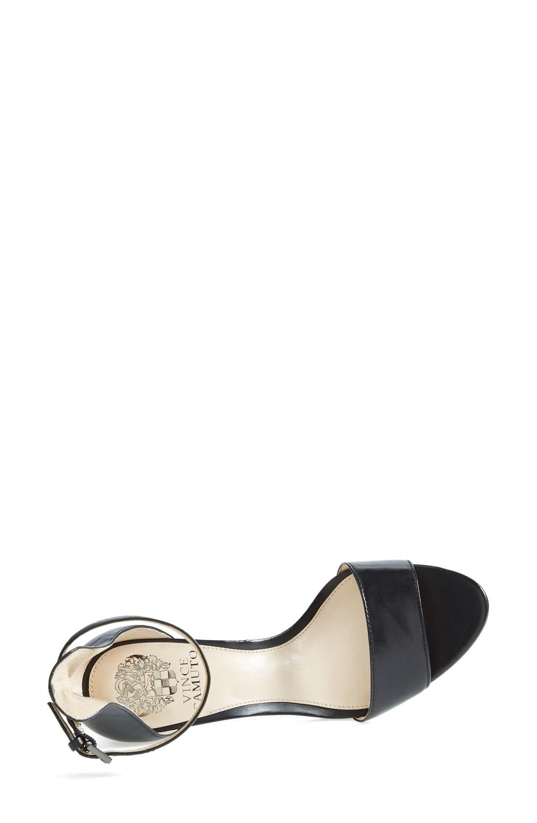 'Court' Ankle Strap Sandal,                             Alternate thumbnail 6, color,                             001