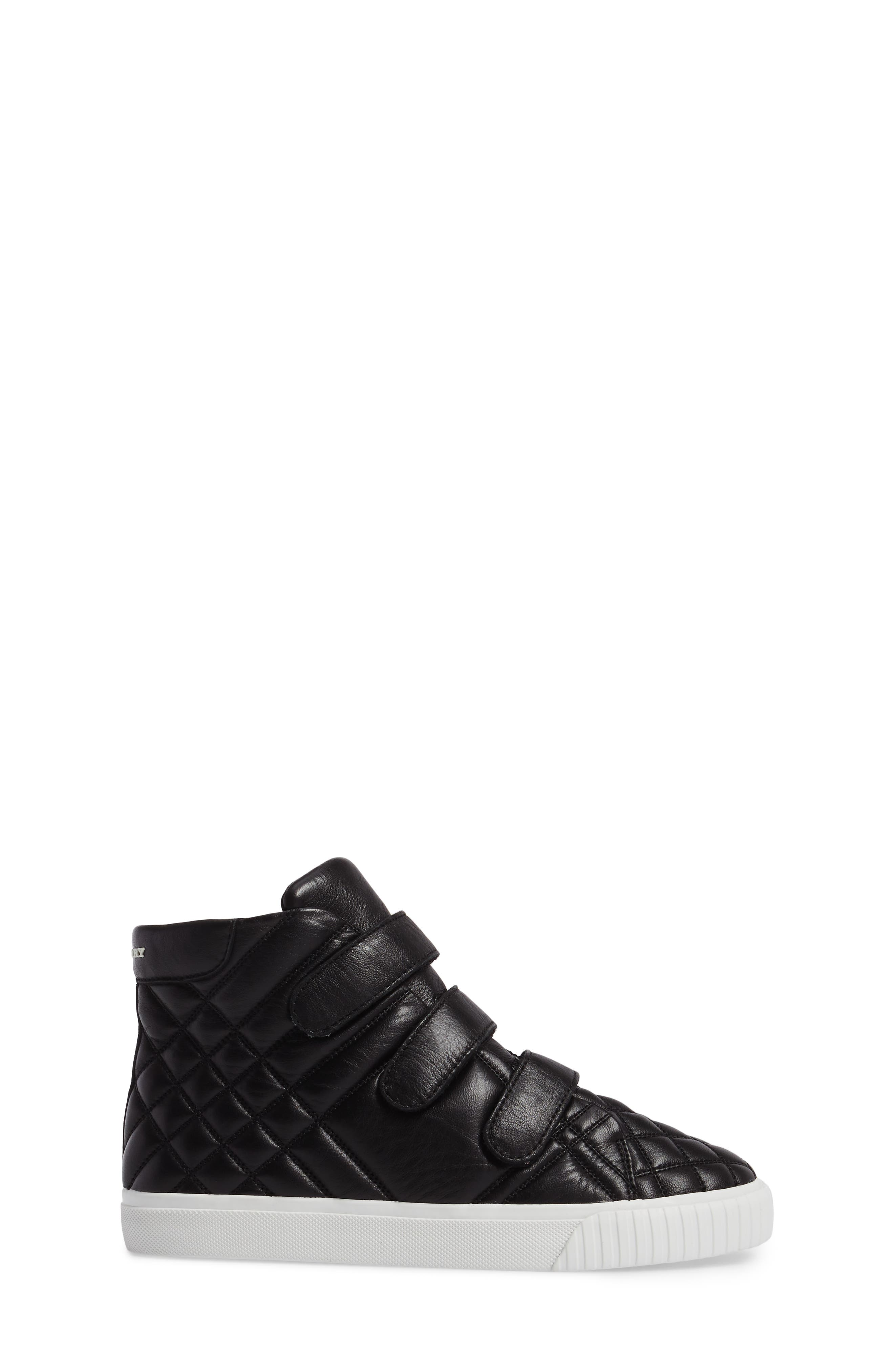 Sturrock Quilted High Top Sneaker,                             Alternate thumbnail 3, color,                             001