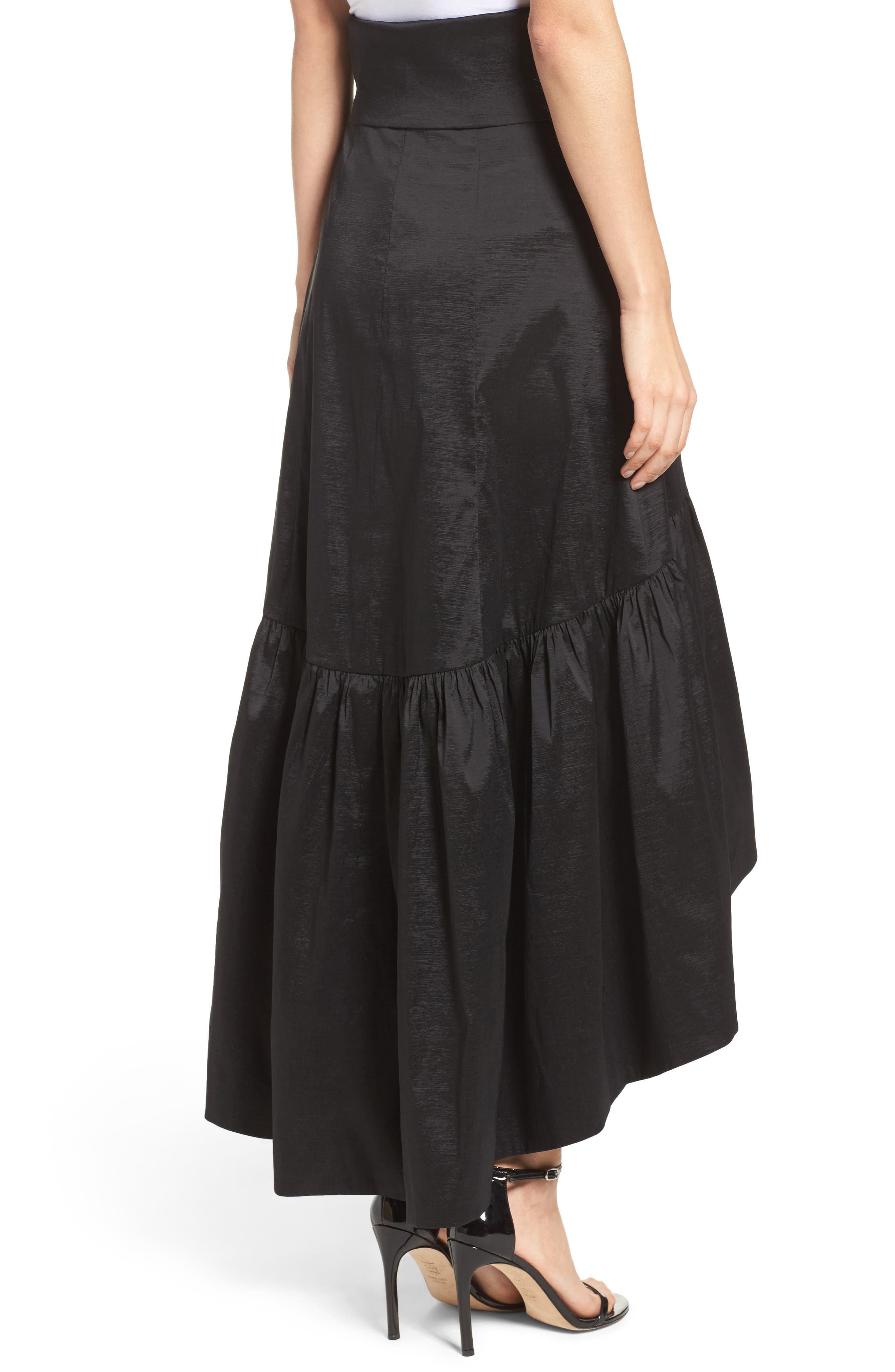 Faux Wrap Skirt,                             Alternate thumbnail 2, color,                             001