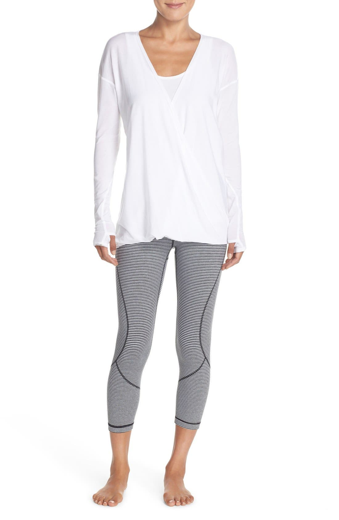 'Live In' Crop Leggings,                             Alternate thumbnail 7, color,                             001