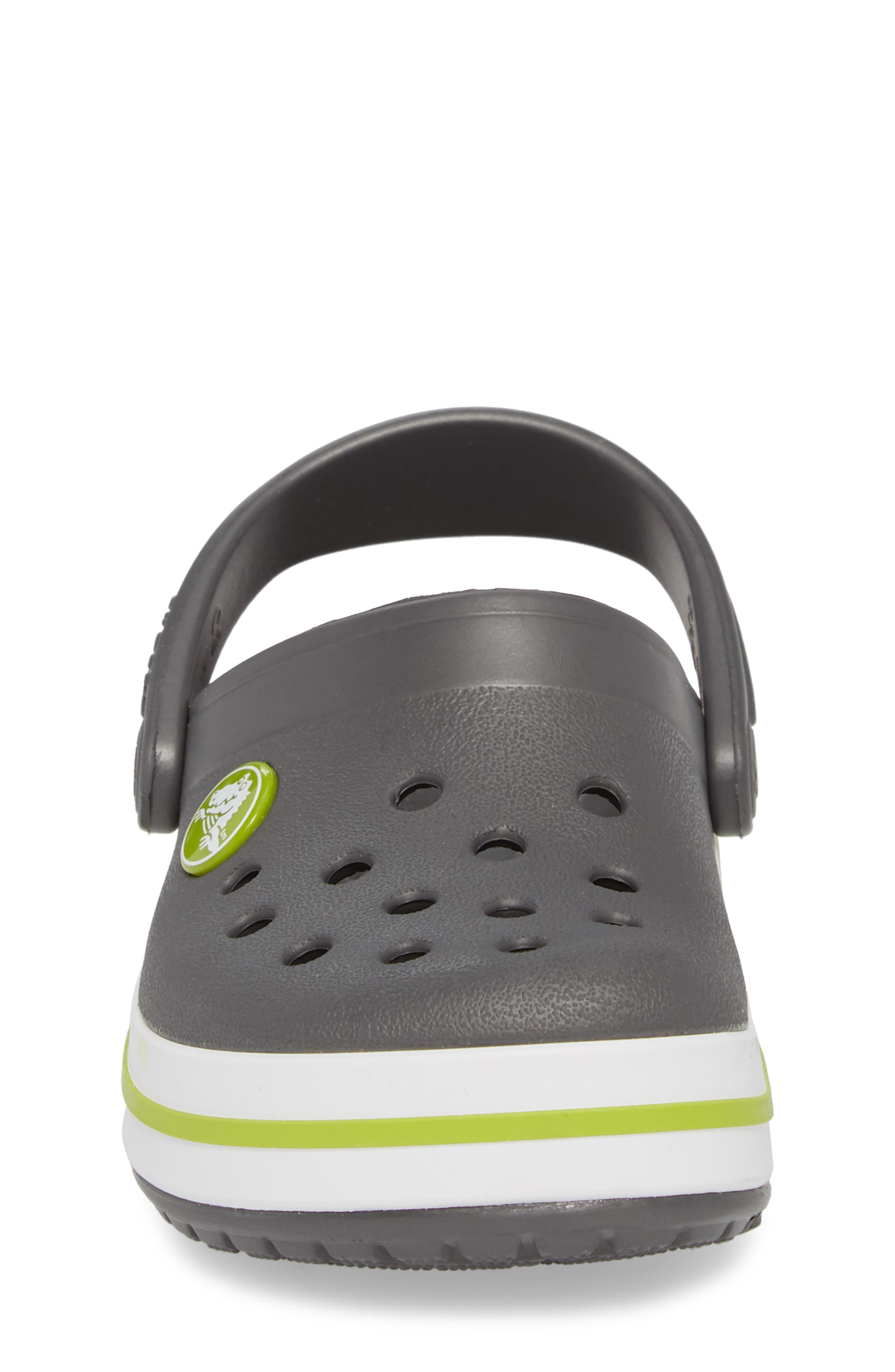 Crocband Clog,                             Alternate thumbnail 4, color,                             GRAPHITE/ GREEN